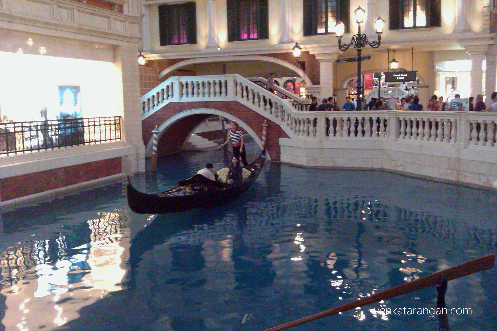 Gondola service in The Venetian, Macau