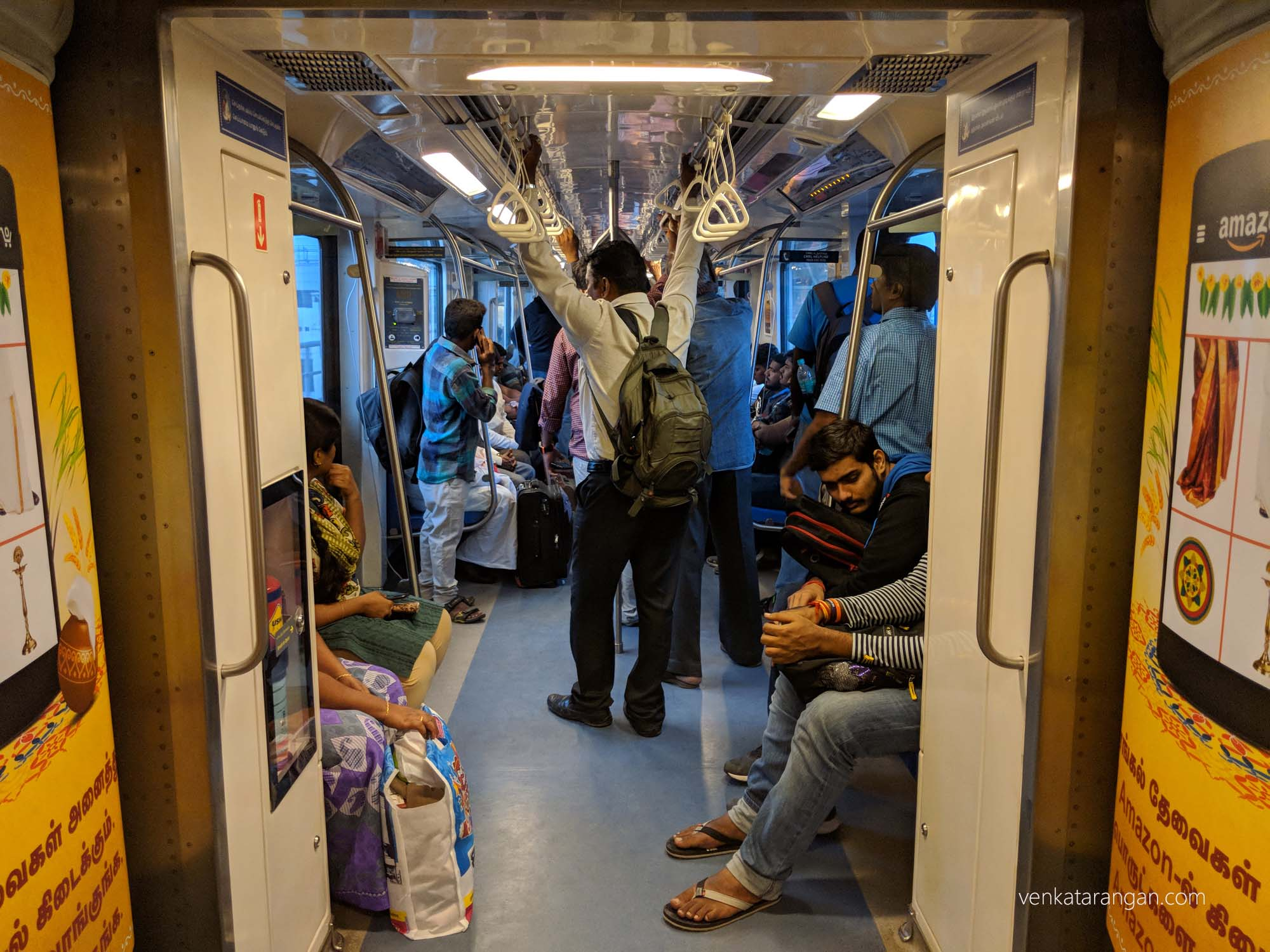 Due to the ongoing Bus Strike, there was quite a crowd onboard Metro Train