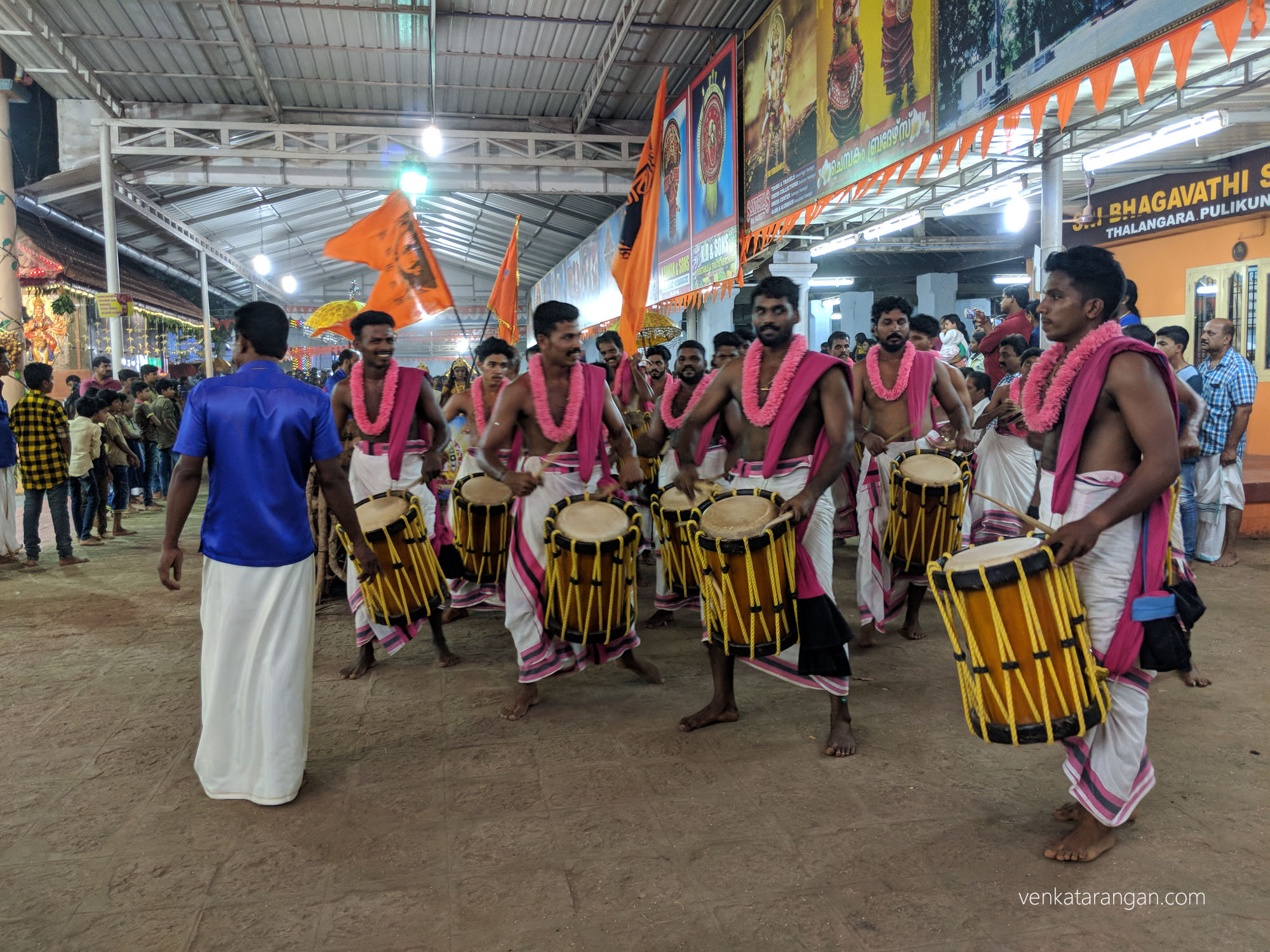 Chenda melam performance at Pulikunnu Shree Ivar Bhagavathi temple , Kasaragod.