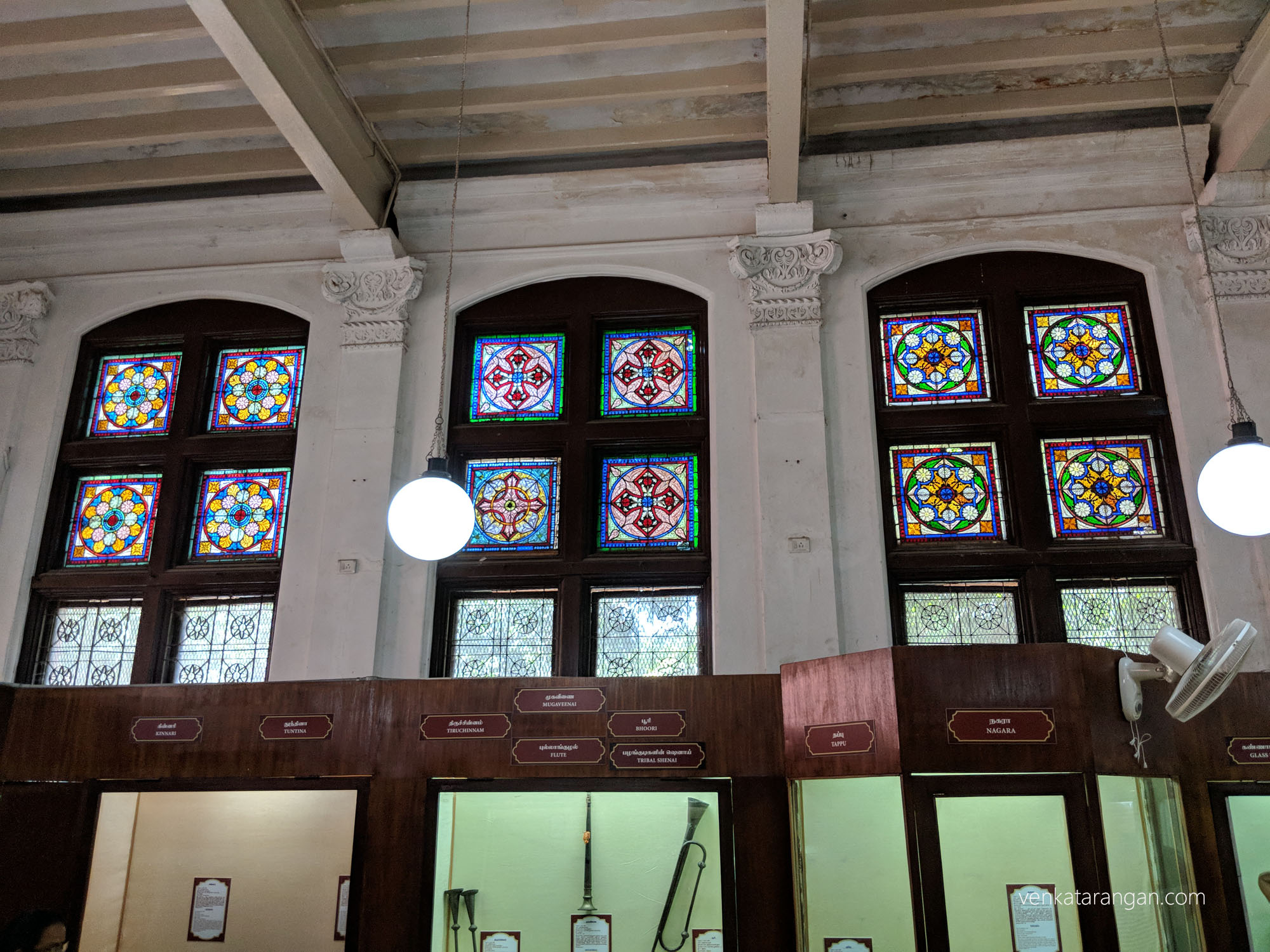 Look at the intricate stained glass work