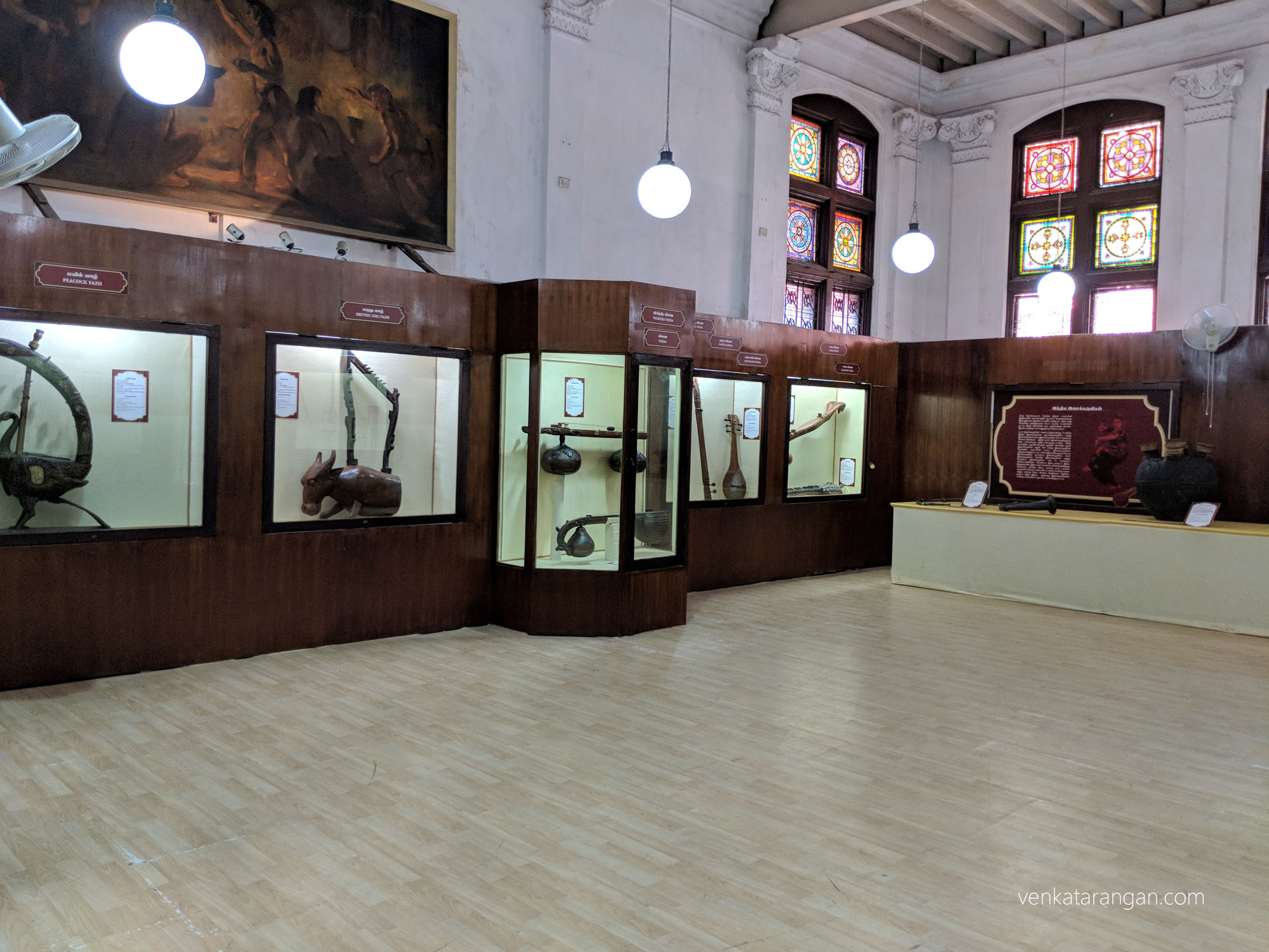 Ancient musical instruments exhibit