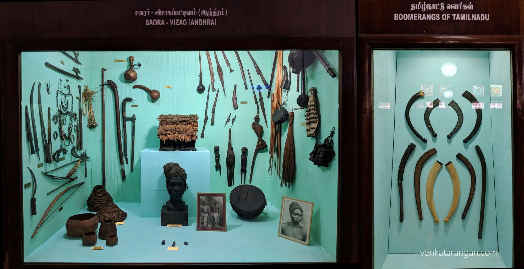 Left-Saora Tribe of Vizak's belongings.Right-Boomerangs of Tamil Nadu (தமிழ்நாட்டு வளரிகள்), and I thought these were found only in Australia!