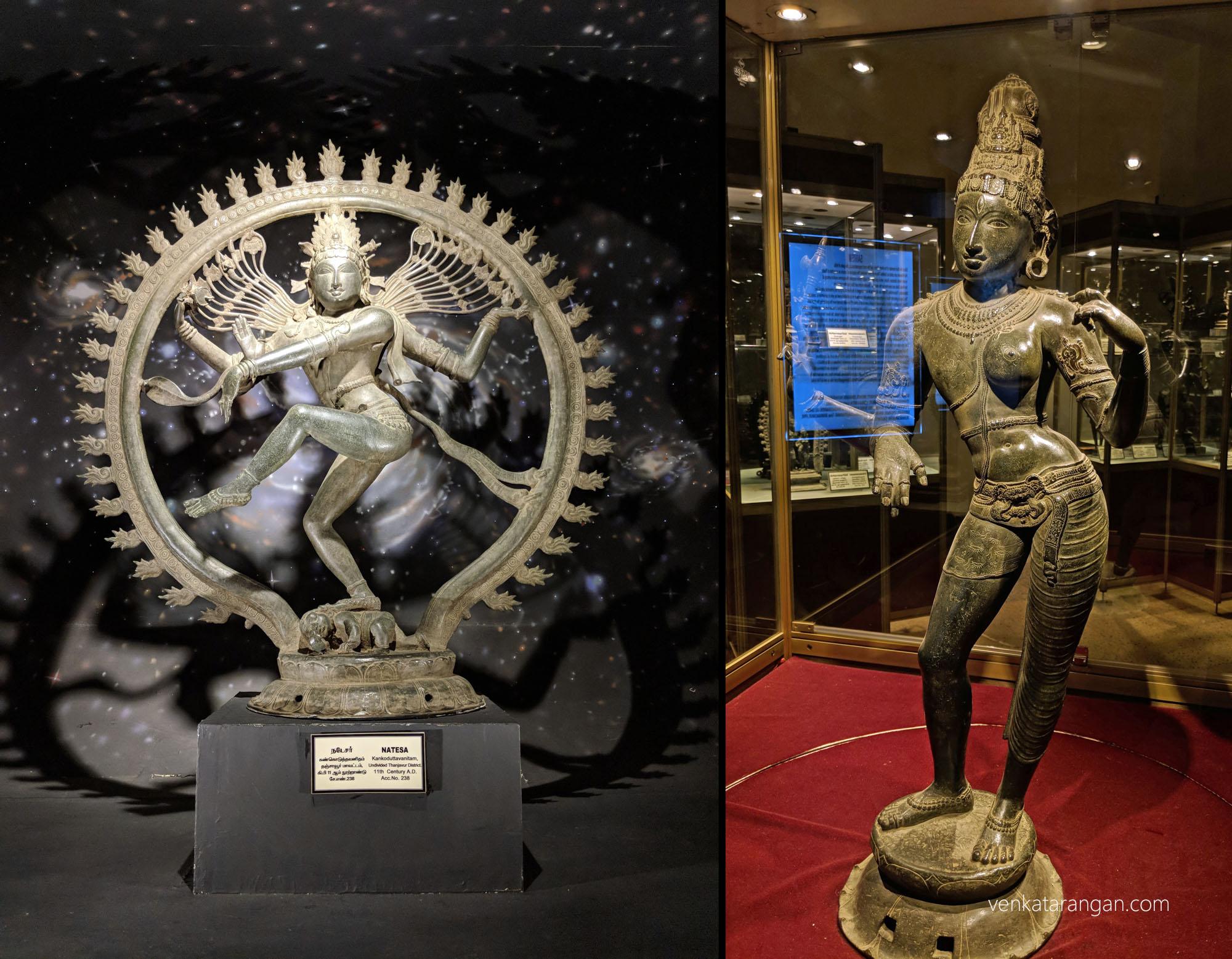 Left-Natesa,கண்கொடுத்தவனிதம், தஞ்சாவூர். 11th Century.