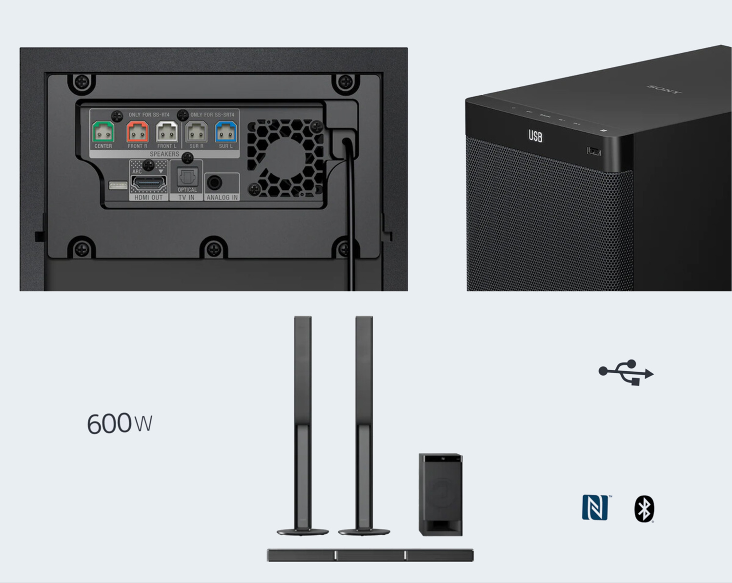 Sony HT-RT40 5.1ch Tall Boy Home Theater System