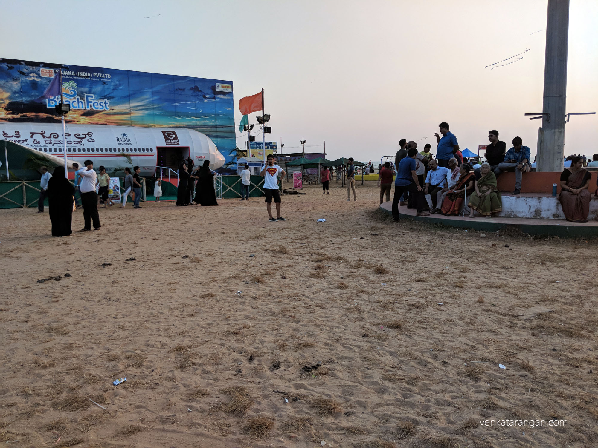 Weekend crowd at Tannirbhavi Beach