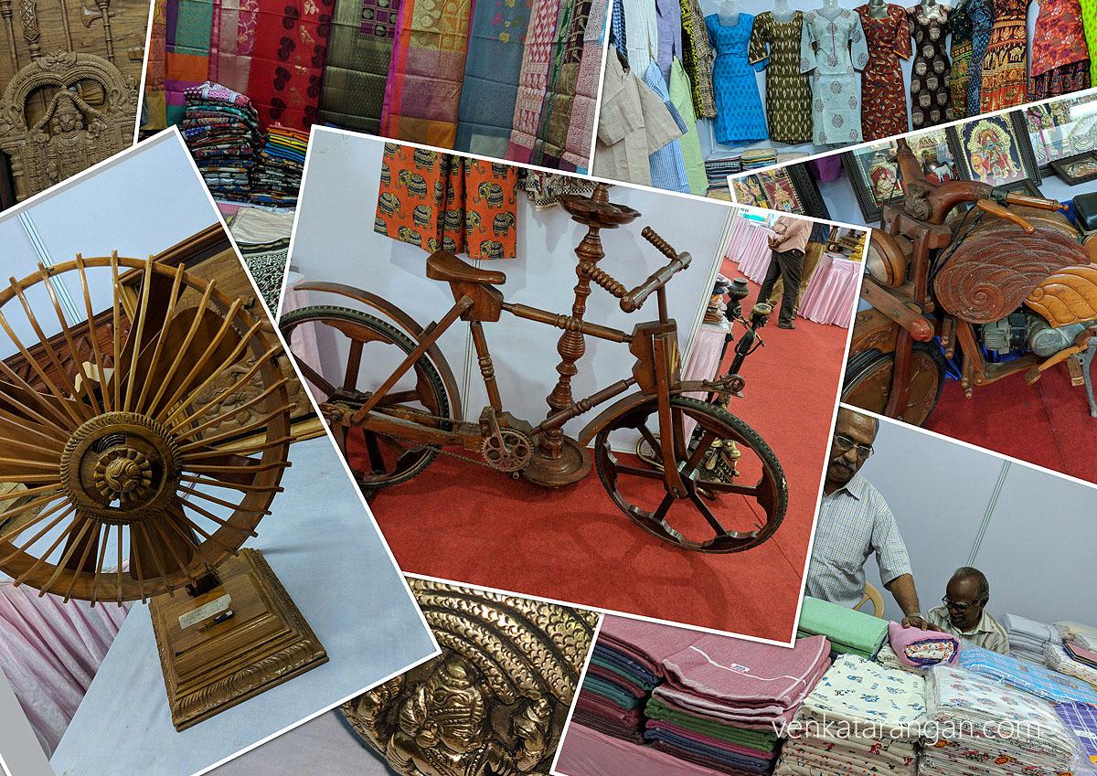 Wooden Fan, Cycle, Motorbike; Cotton towels, Ladieswear and more - மரத்தாலான மின்விசிறி, மீதிவண்டி; பருத்தி துண்டு, பெண்கள் அடைகள் மற்றும் பலப்பல