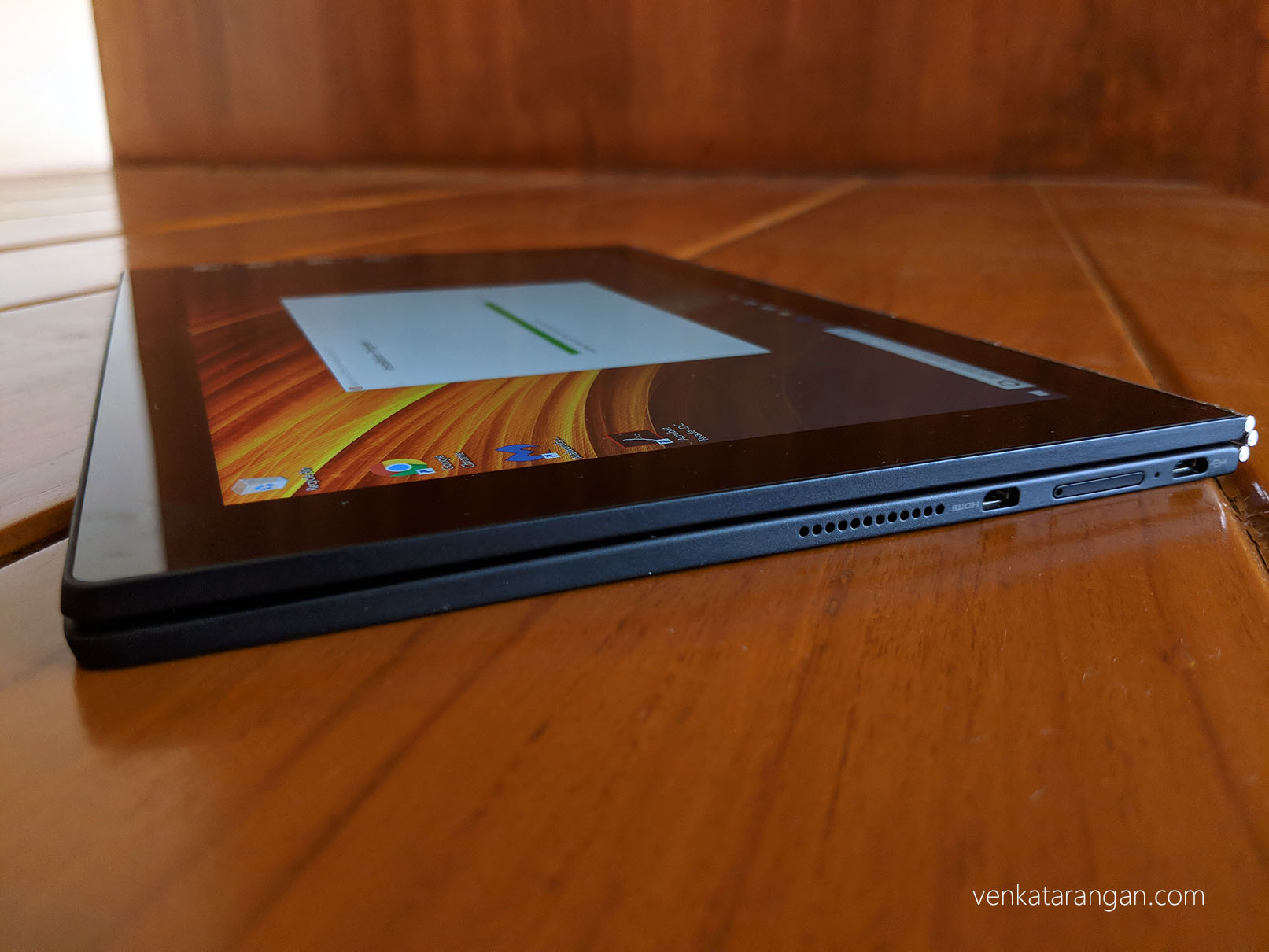 Folds 360 degrees to Tablet mode - Lenovo Yoga Book with Windows