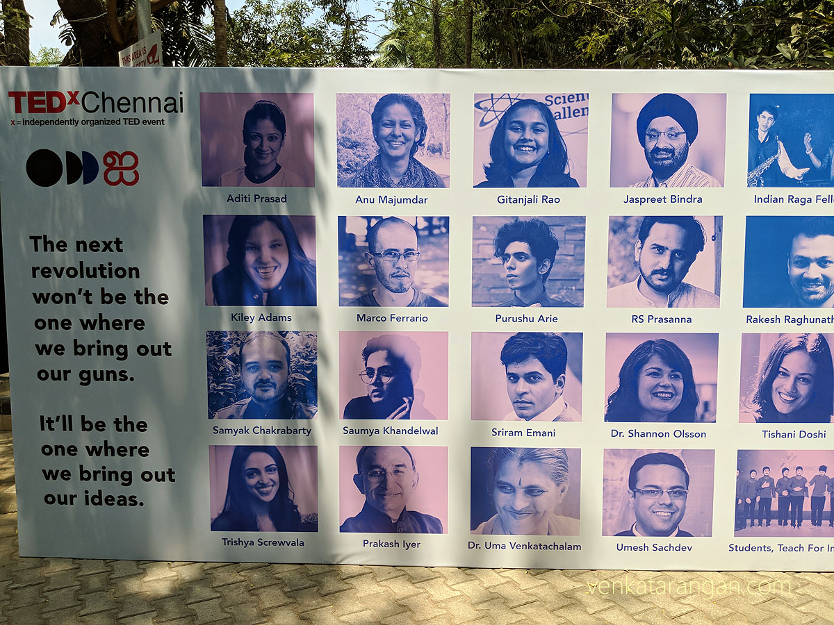 Speakers of TEDxChennai 2018