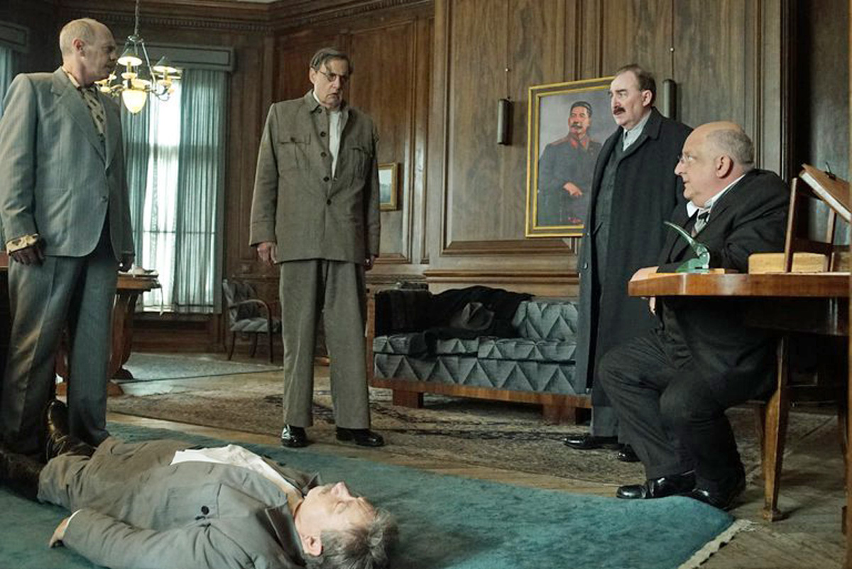 Stalin lying unconscious on the floor