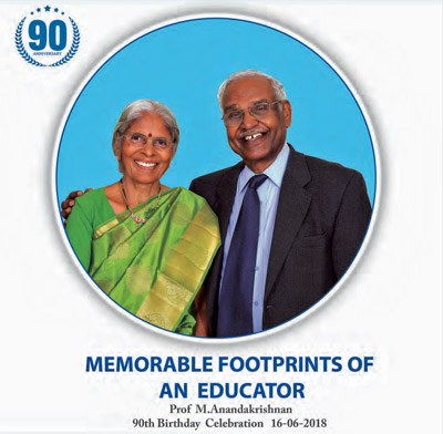 Download the ebook that was released - Memorable Footprints of an educator