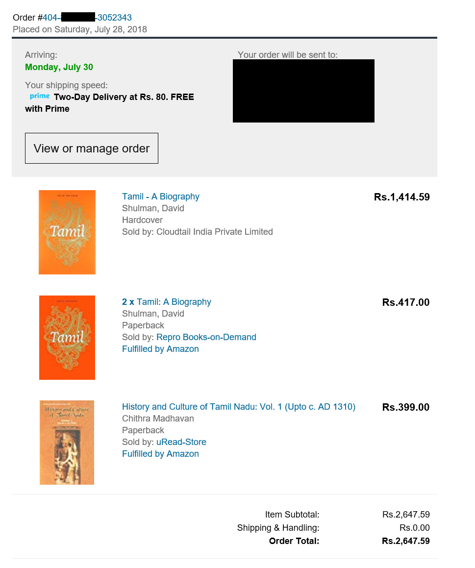 Amazon India's Invoice wrongly showing the Unit Price and not taking into account the quantity per item