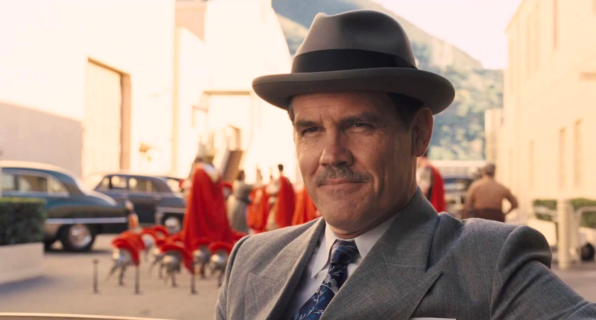 "Josh Brolin as Eddie Mannix, a tough studio ""fixer"""