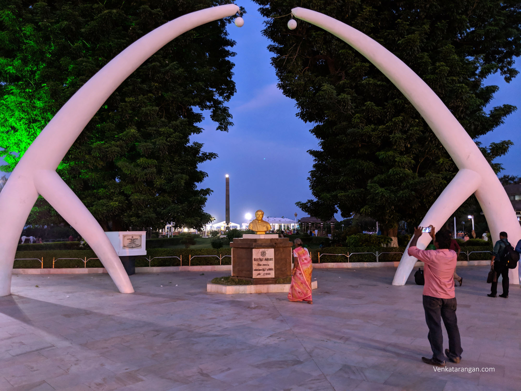 View of Anna and Kalaignar Memorial