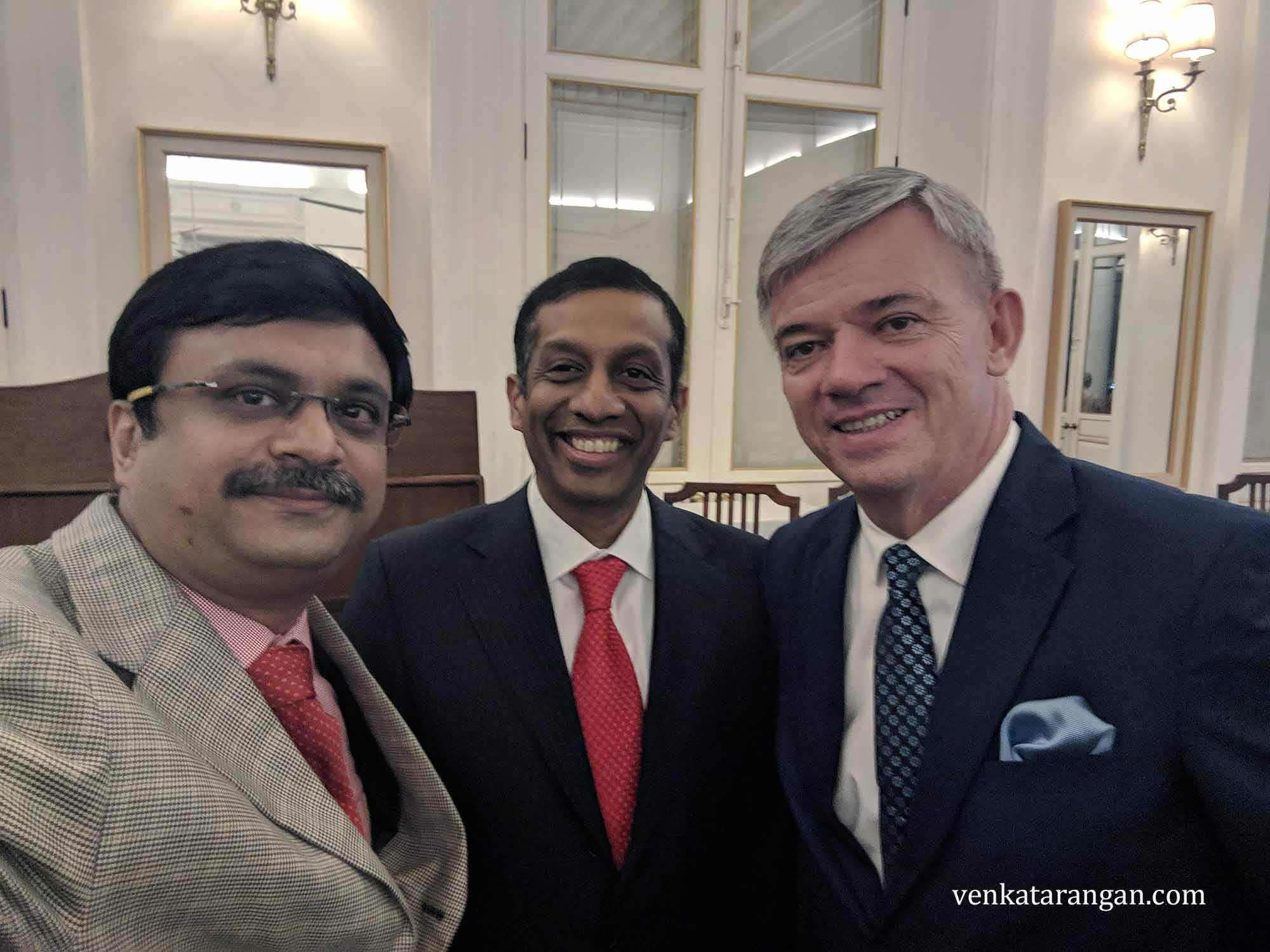 With Mr Ar Rm Arun (Honorary Consul of the Czech Republic in Chennai) and His Excellency H.E. Mr Milan Hovorka (Ambassador of the Czech Republic to India),