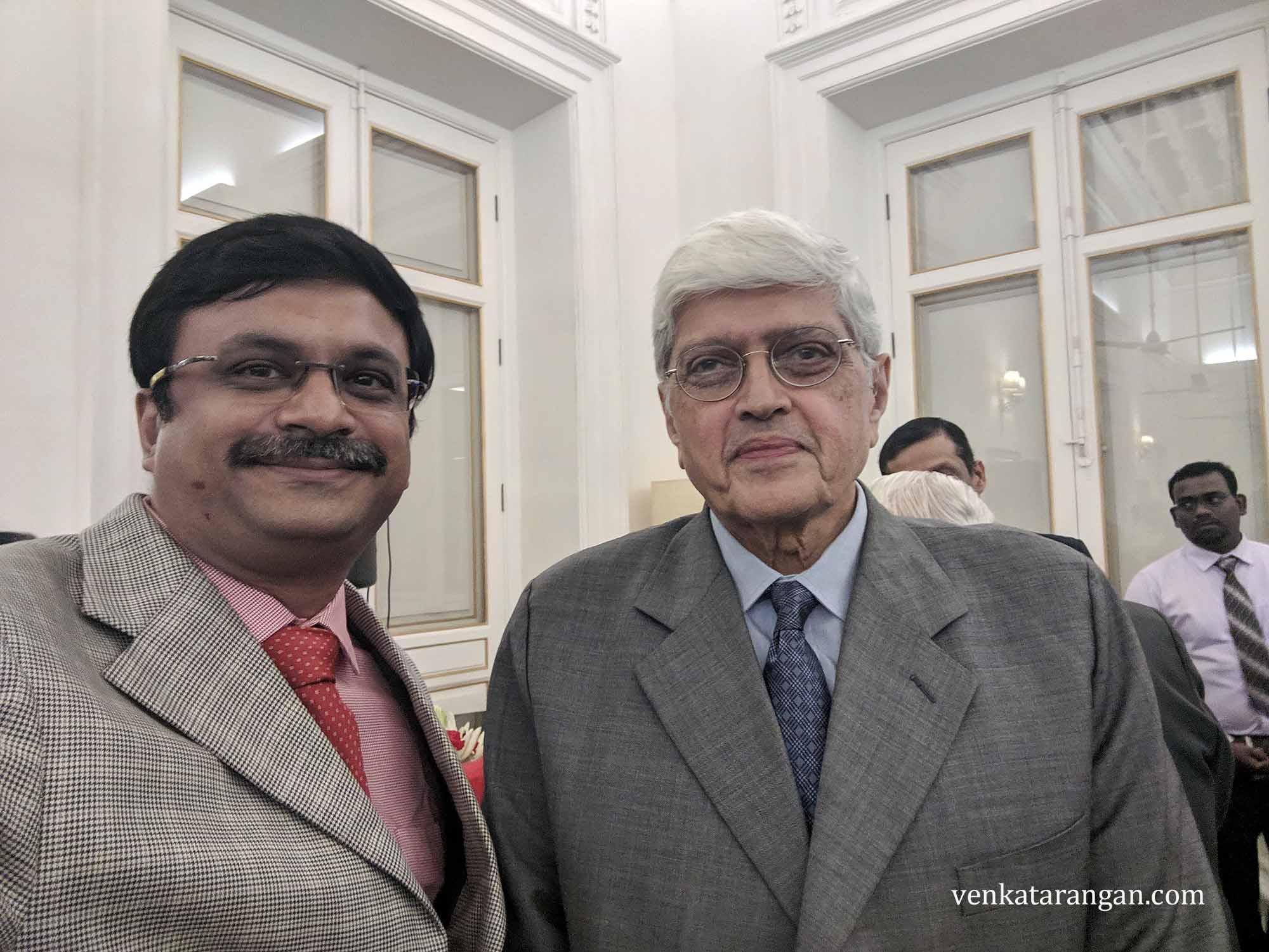 With Mr Gopalakrishna Gandhi (Former Governor of West Bengal)