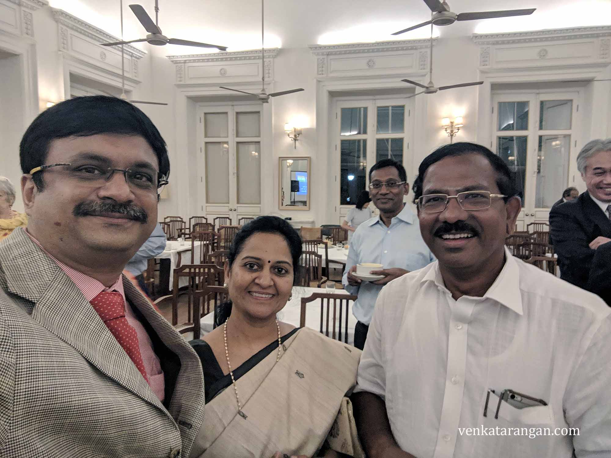 Mrs Latha Pandiarajan (Co-Founder of Mafoi) and Mr K Pandiarajan (Hon'ble Minister of Tamil Nadu)