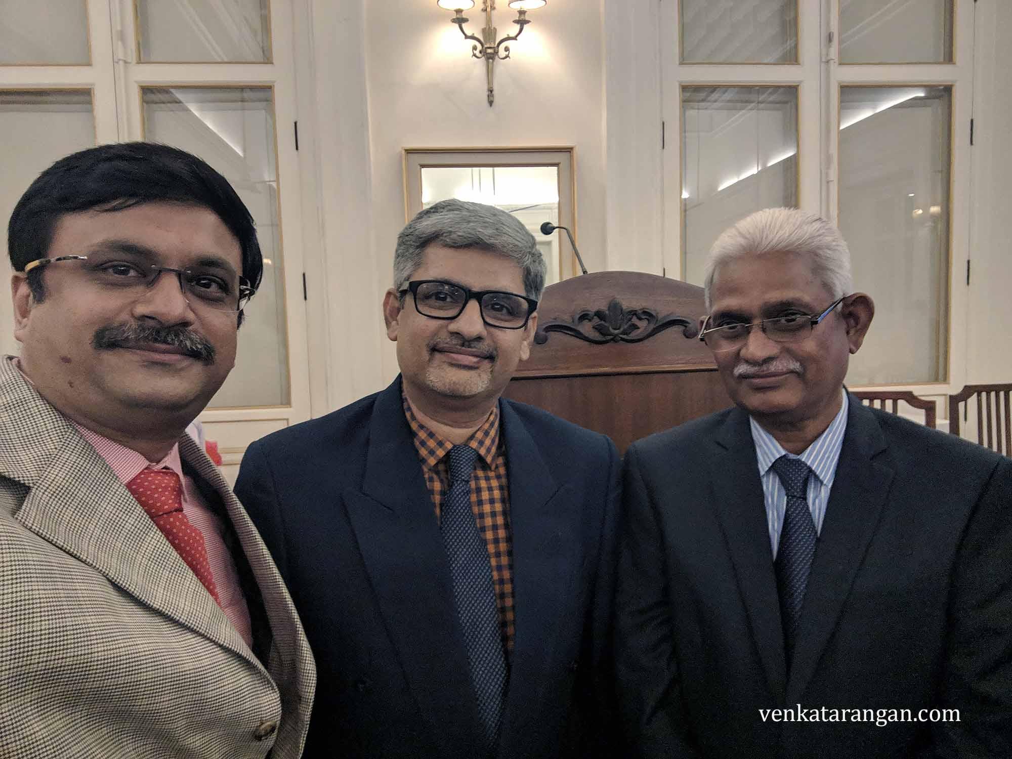 Prof Ganesh Vaidyanathan S (Principal of Sri Venkateswara College of Engineering, Sriperumbudur and my alma mater) and Dr M Sivanandham (Secretary of SVCE)