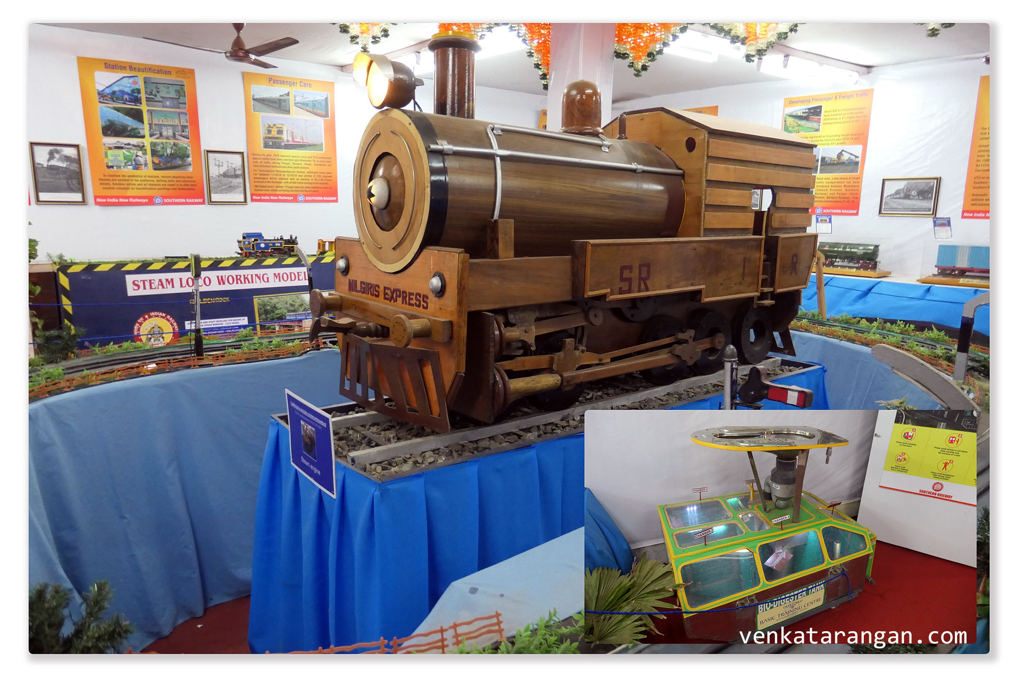 Southern Railways - Wooden model of Nilgris Express - Bio-Digester Tank (Waste disposal)