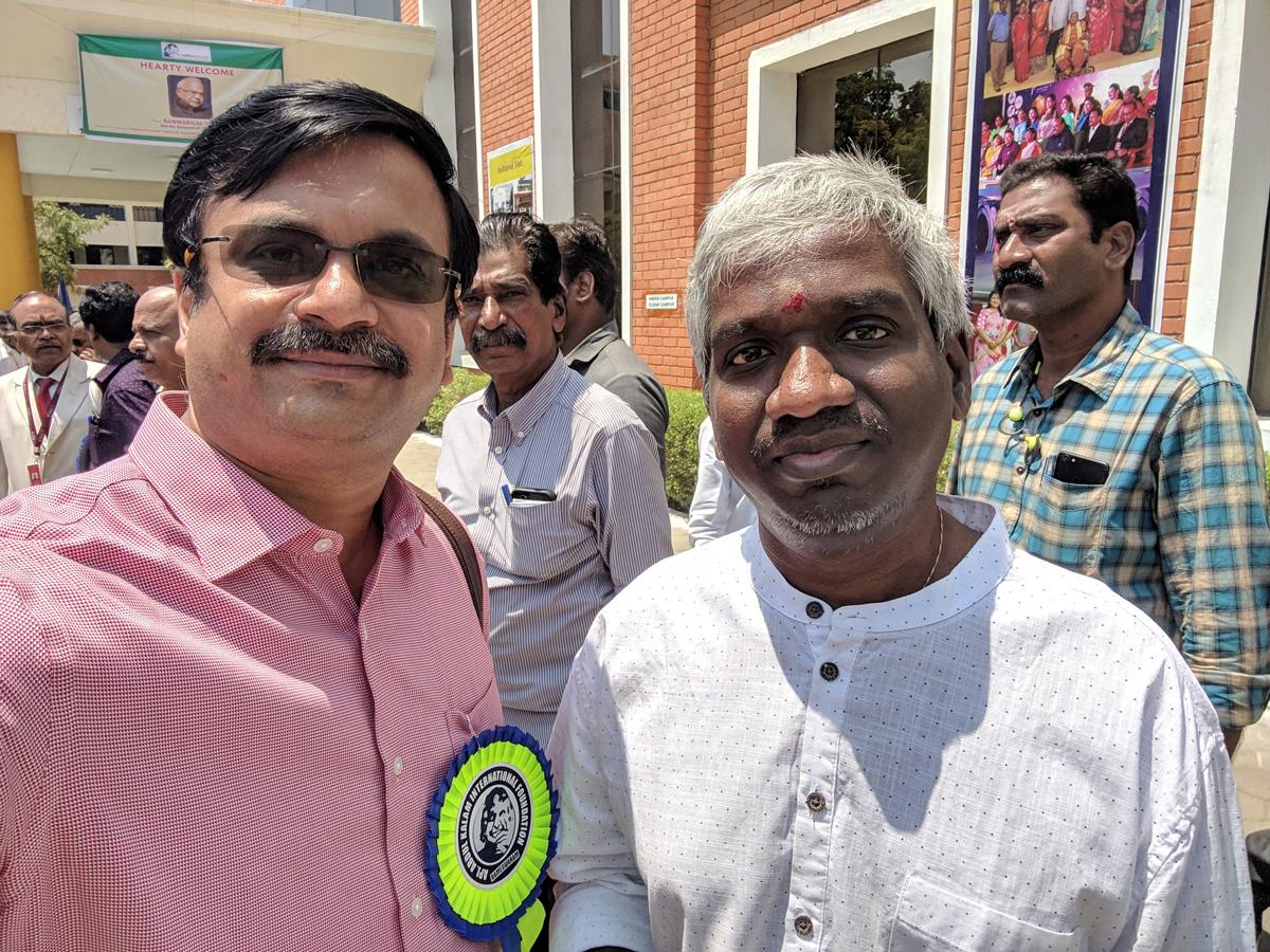 With Mr Karthik Raja, Music Director - திரு கார்த்திக் ராஜா, இசை அமைப்பாளர்.