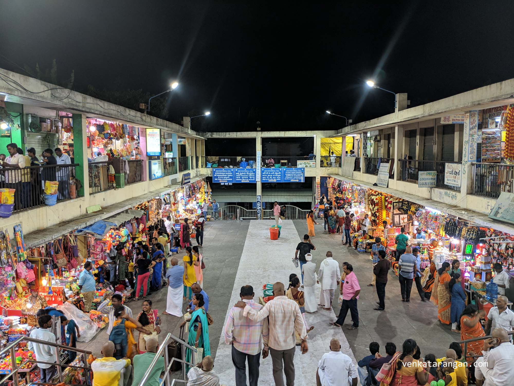 A view of a shopping area - Every pilgrimage is an occasion to shop as well for Indians and Tirumala is no exception
