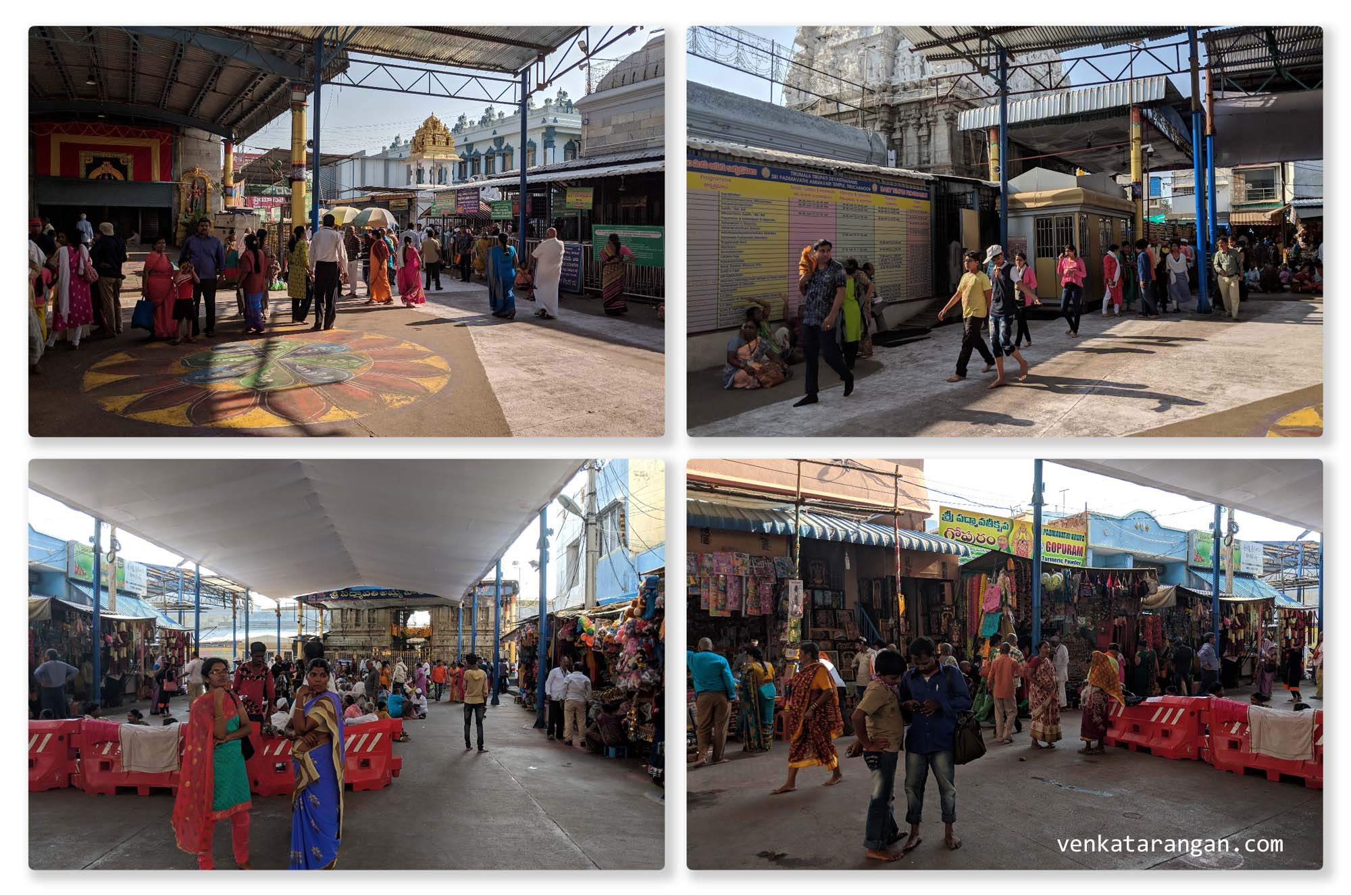 Devotees throng the Sri Padmavathi Temple, Tiruchanur, Tirupati