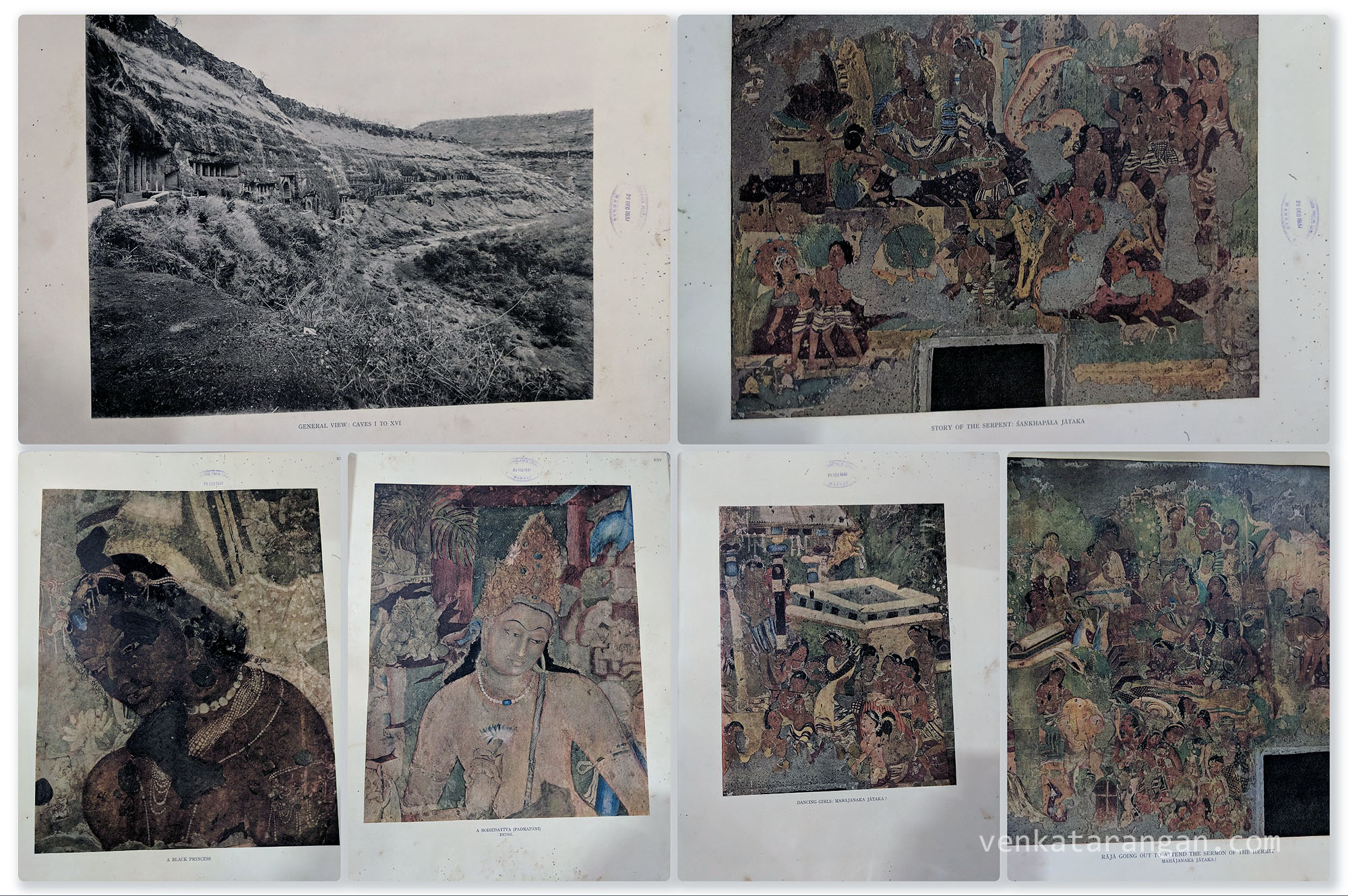 Ajanta Caves - The colour and monochrome reproductions of the Ajanta Frescoes based on Photography - Introduction by G.Yazdani and Laurence Binyon - Published under the authority of the Highness The Nizam.