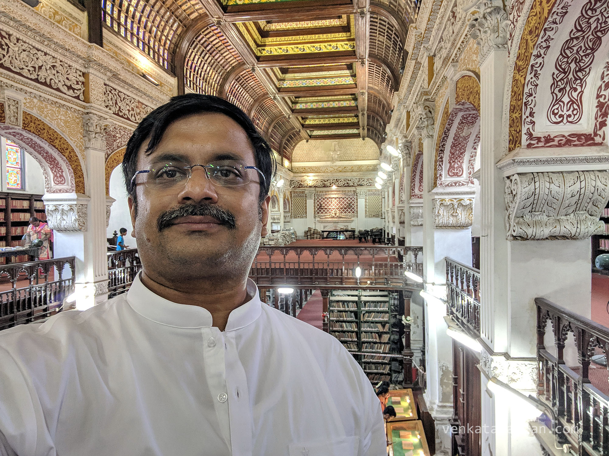T.N.C.Venkatarangan (yours truly) seen inside the old building of Connemara Public Library, Egmore, Chennai, India - 27th April 2019