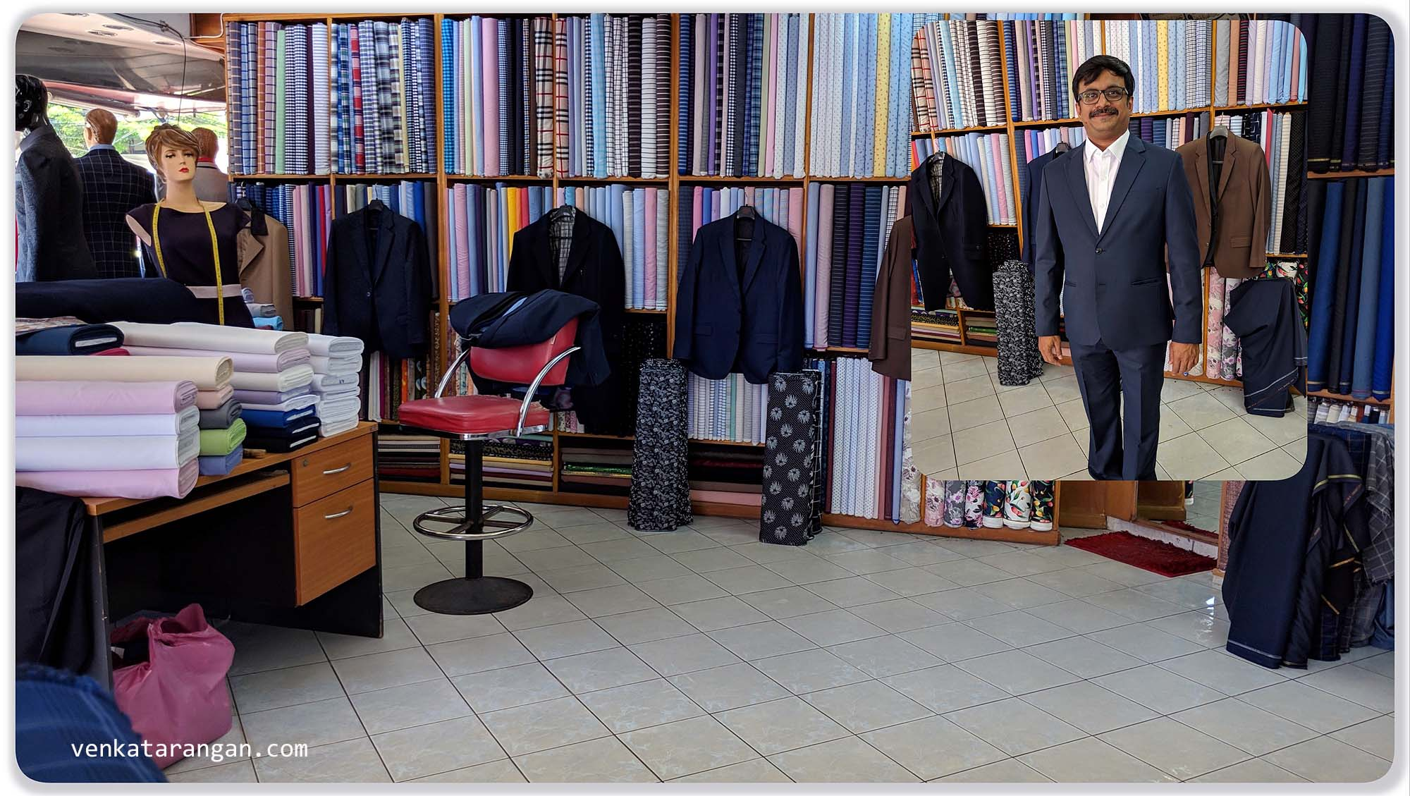 Tailor Shop where I purchased a suit - happy with the material and stitching but not the service