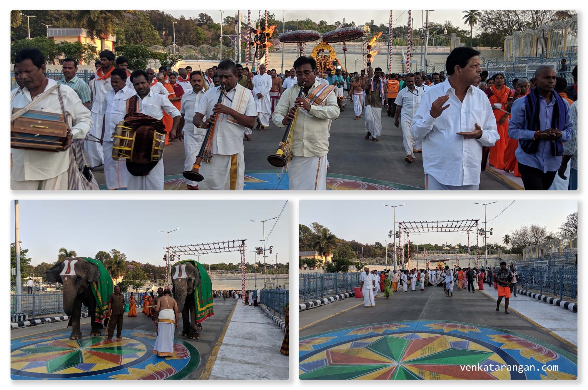 Most of the evenings, there is a procession of Uthsava Murthy of Lord Sri Balaji