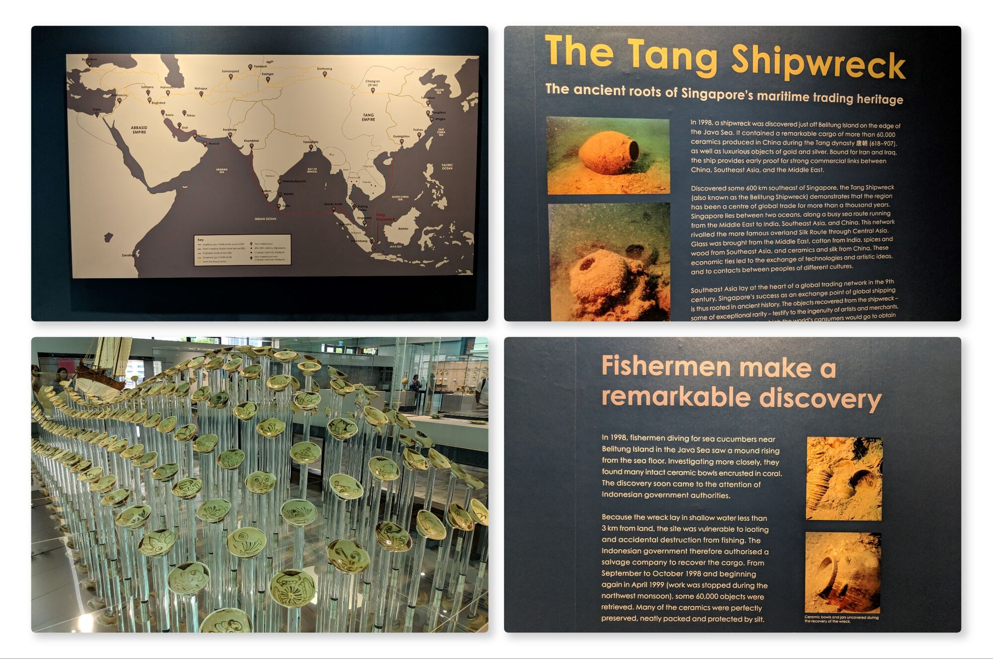 The Tang Shipwreck. The ceramics had been produced in China during the Tang dynasty (618-907).