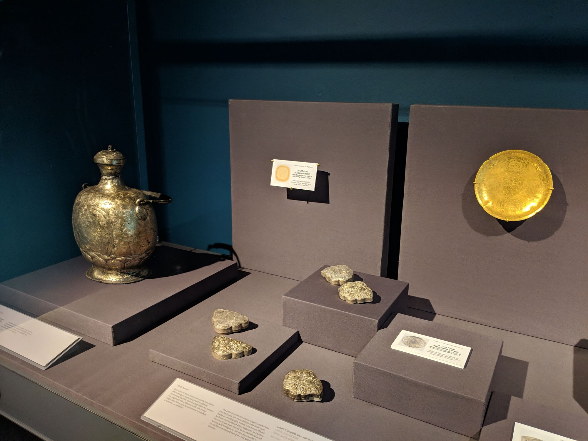 Silver boxes and Gold items