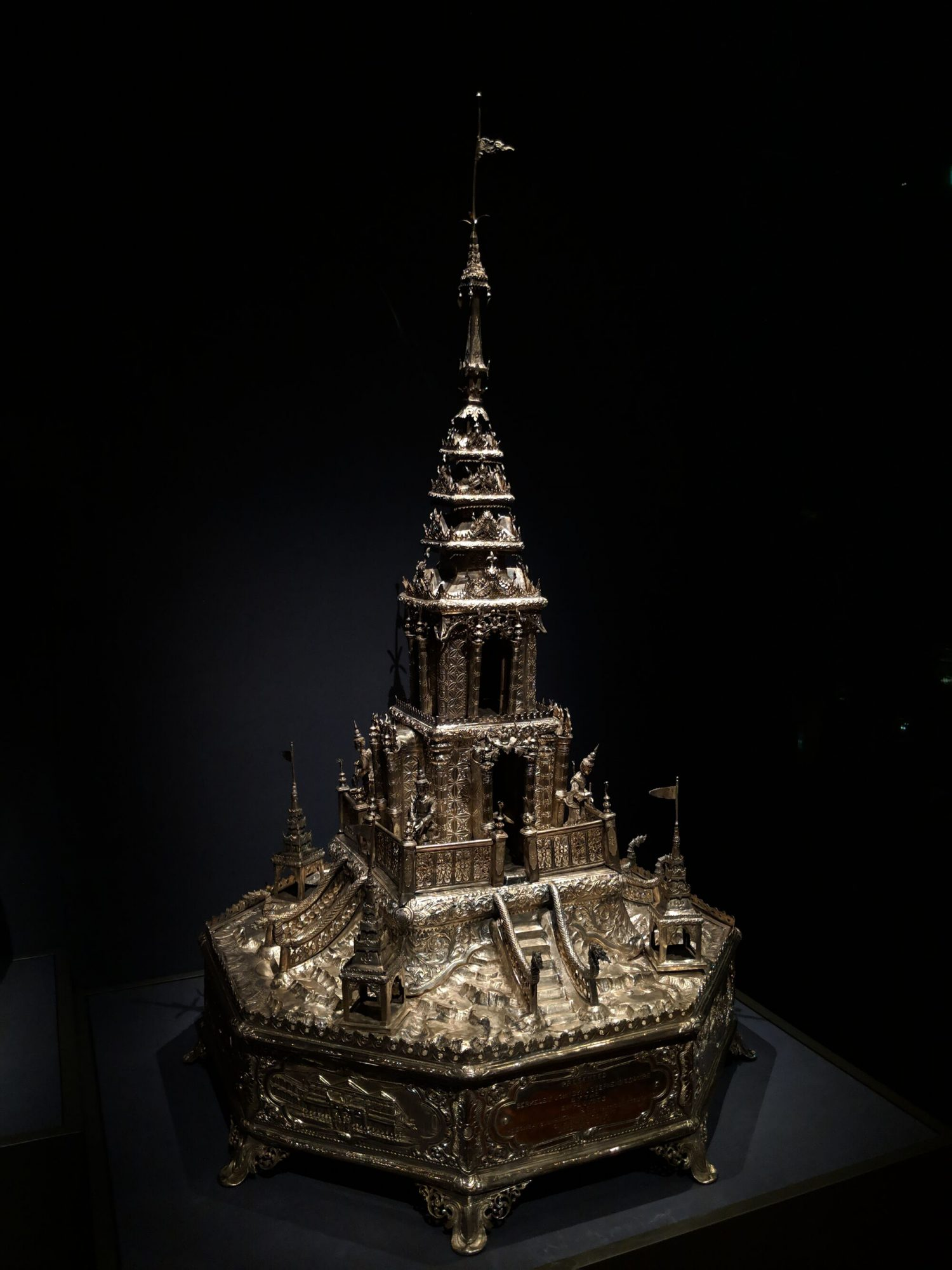 Model of a temple, Myanmar, Yangon, 1914, The form of a Burmese temple.