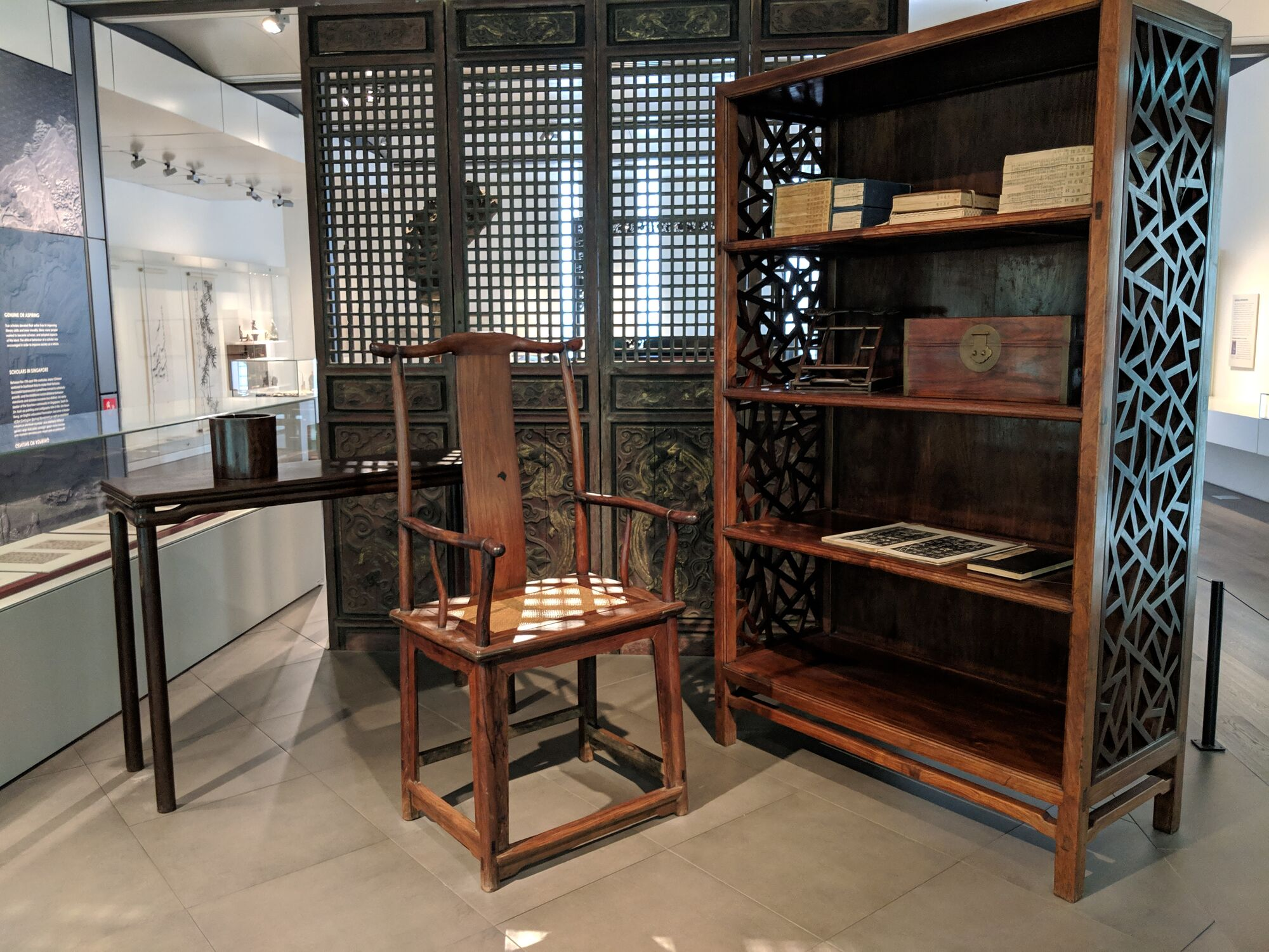 The Scholar's studio, 17th to 18th century, An elite scholar of the Ming or Qing dynasty would design a studio where he could study, meditate, calligraphy and painting.