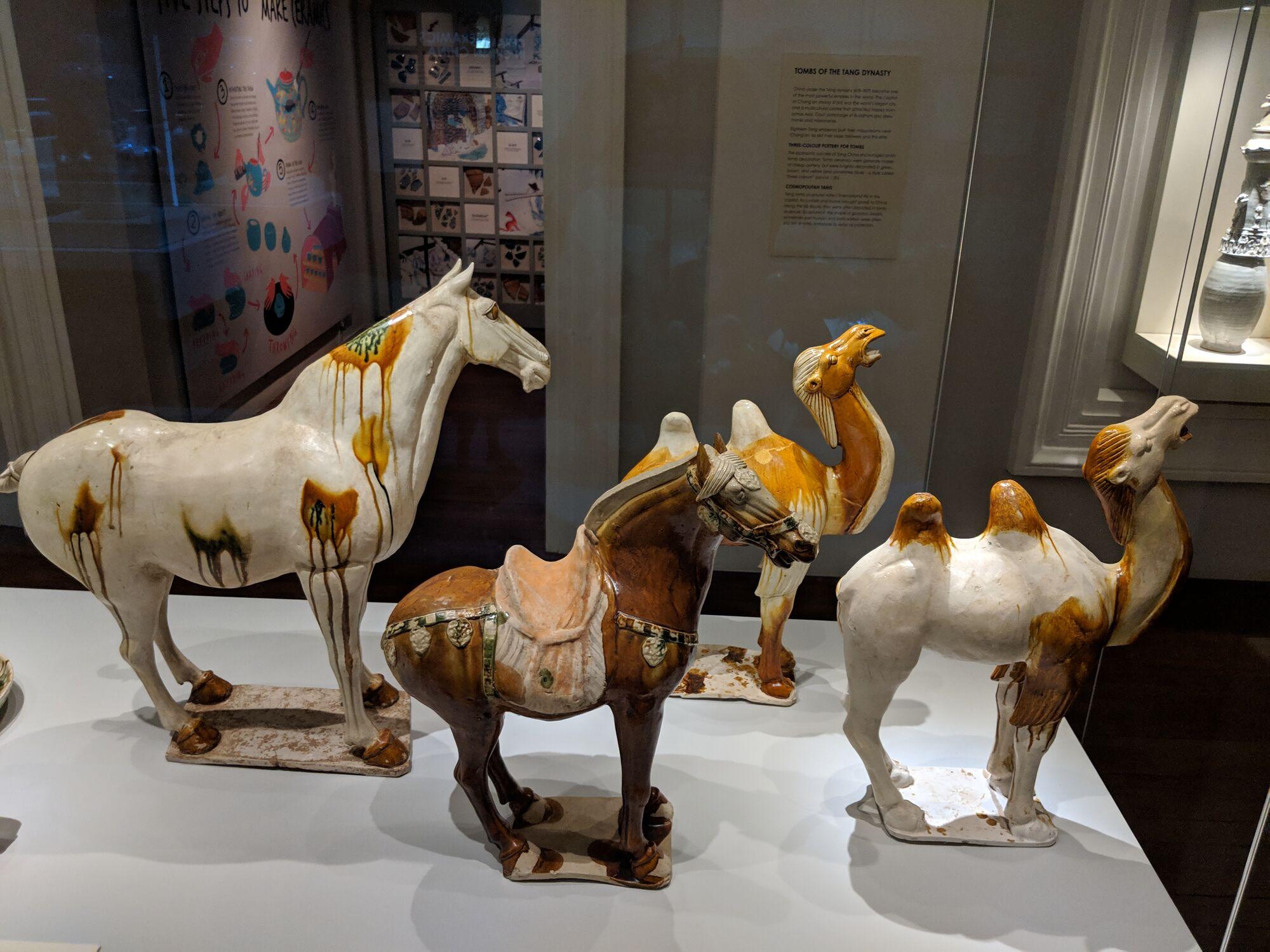 Horse, China, Shaanxi Province, Tang Dynasty (618-907), Earthernware.