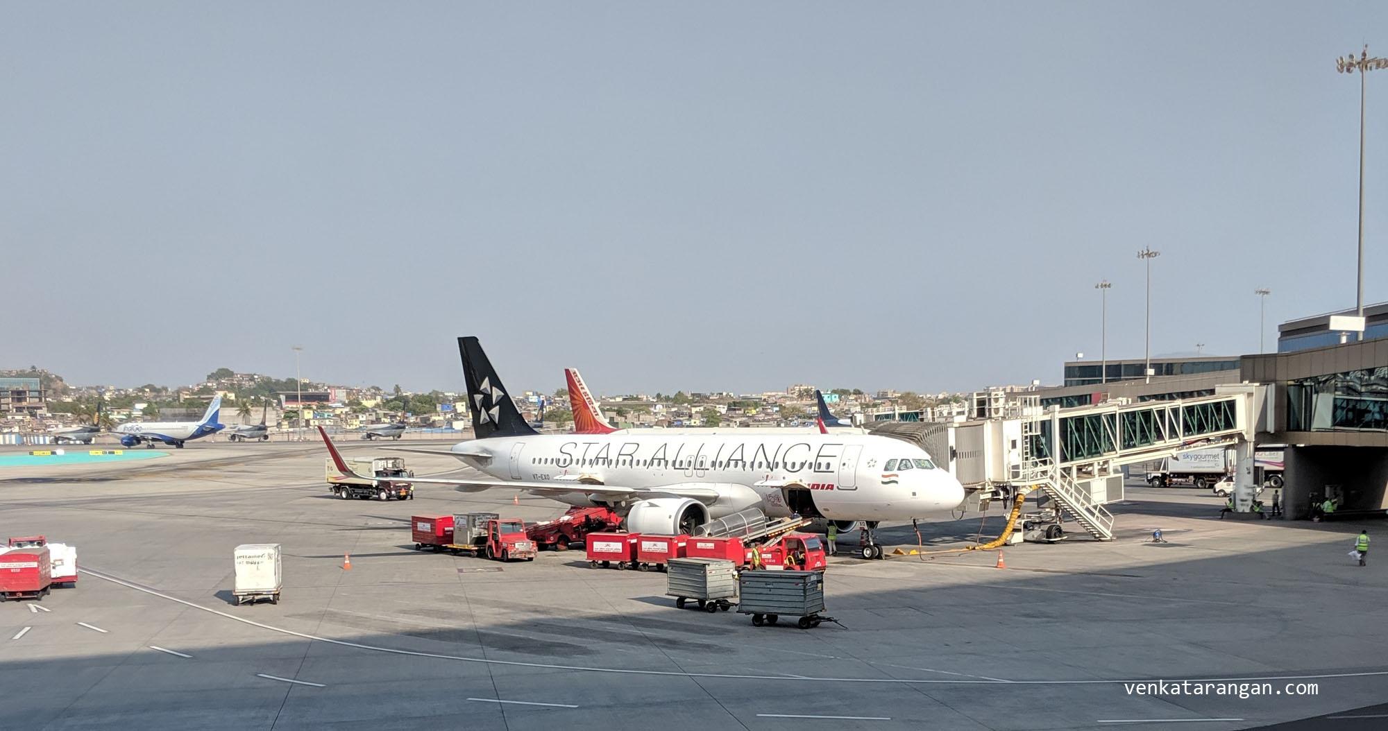Air India plane sporting Star Alliance logo