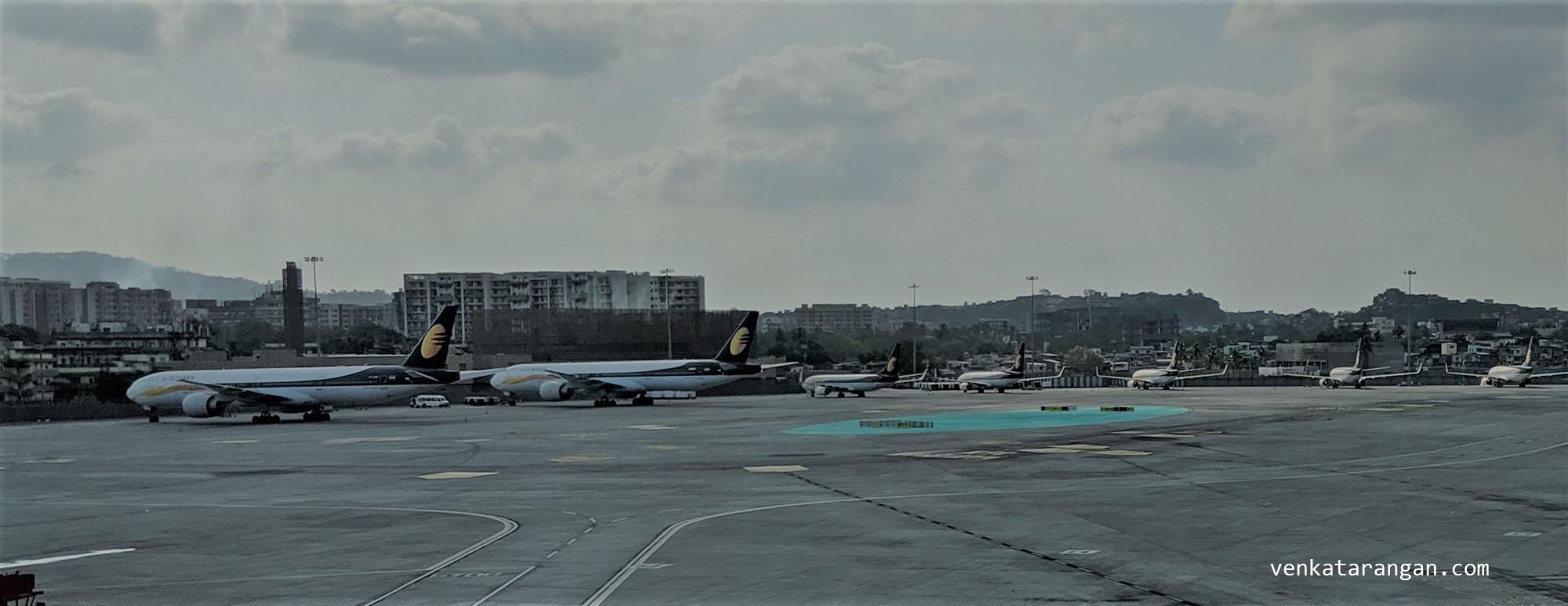 Jet Airways Grounded in Terminal 2 Chatrapati-Shivaji Terminal Mumbai