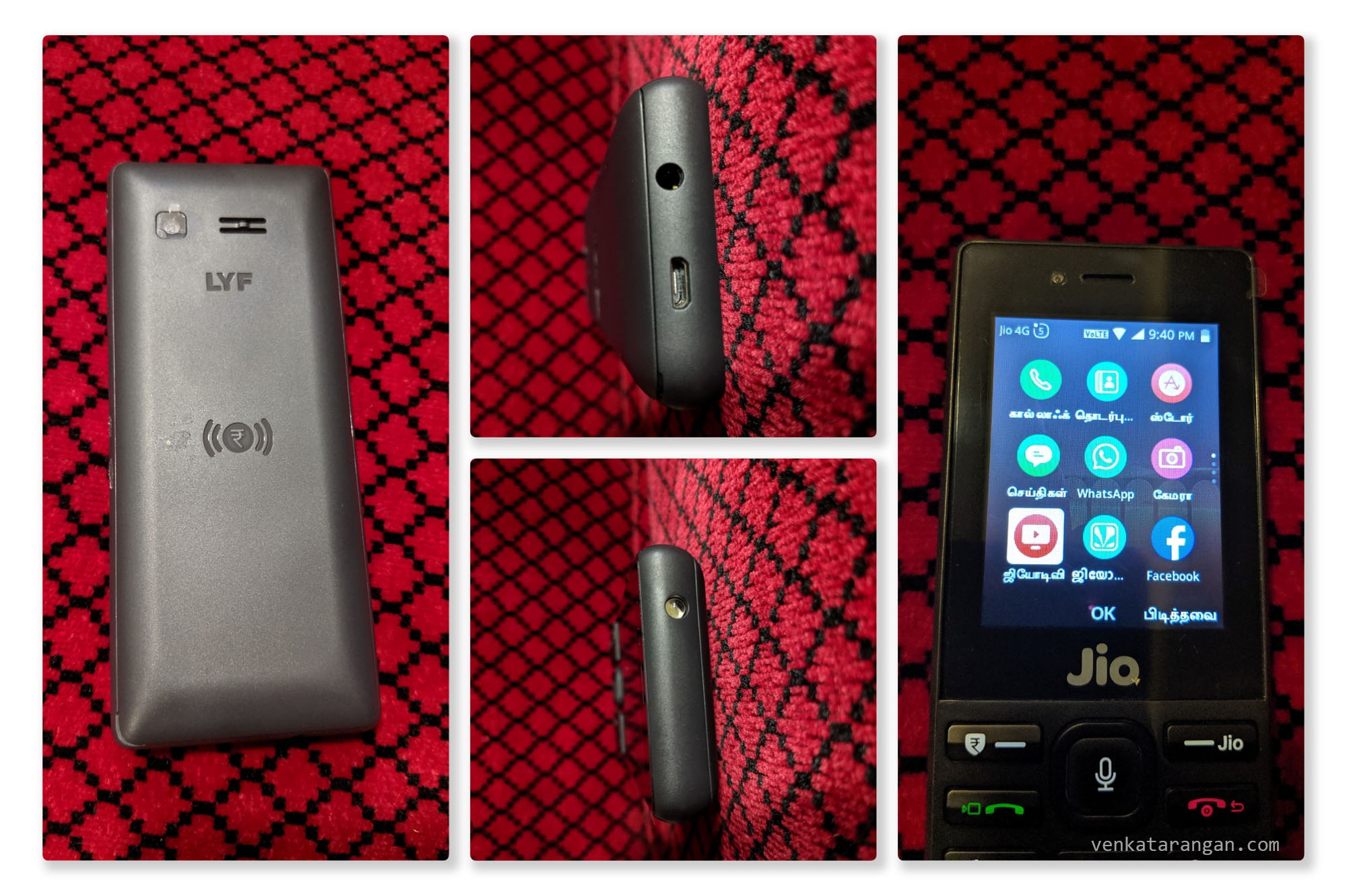 Jio Phone has a 2MP Camera in the back, 3.5 mm headphone port, a Micro-USB port for charging, a torch light on the top and sports a local language interface apart from Google Voice Assistant