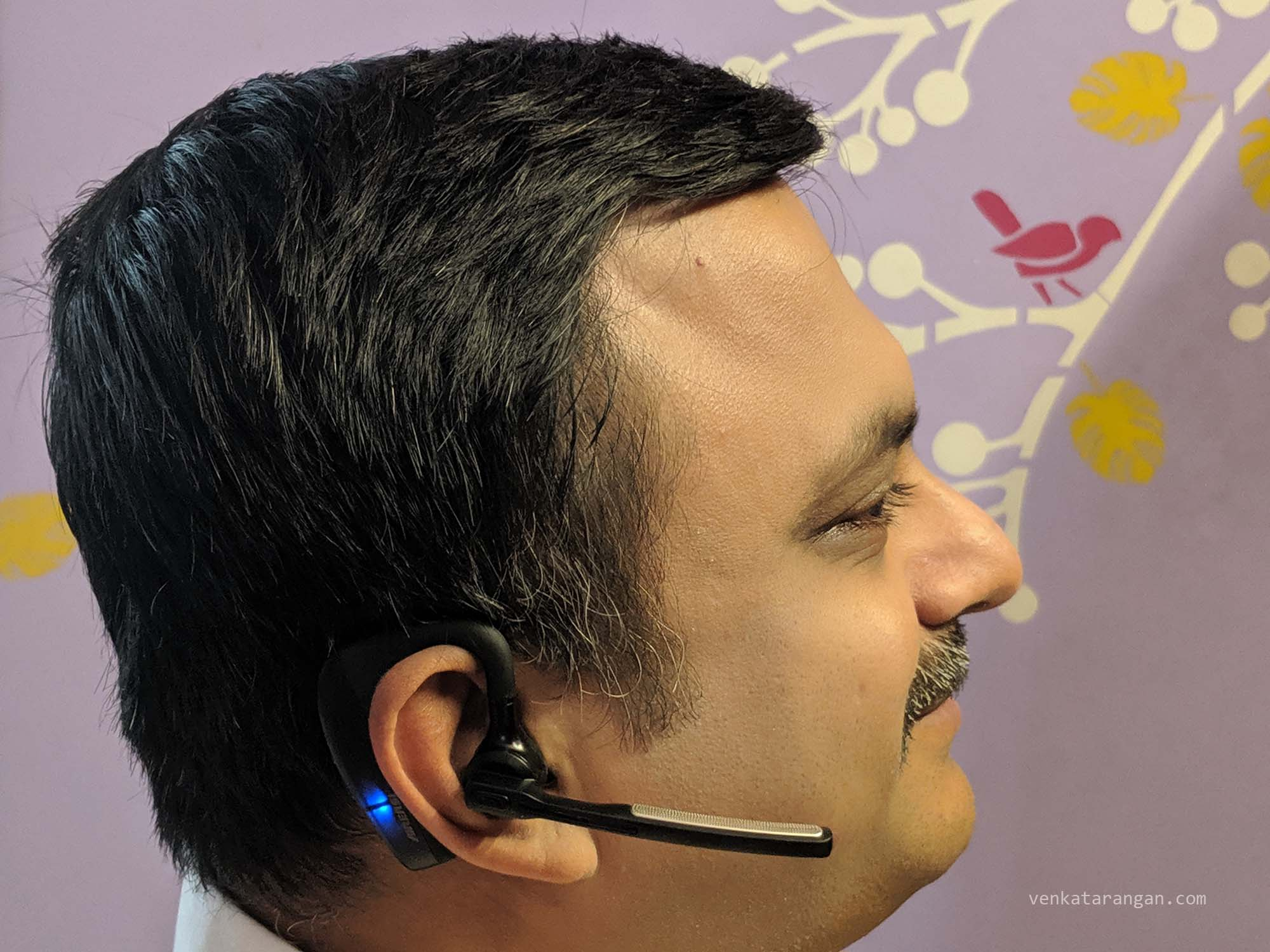 Venkatarangan with K10 Wireless Bluetooth Headset for Noise Free Calls