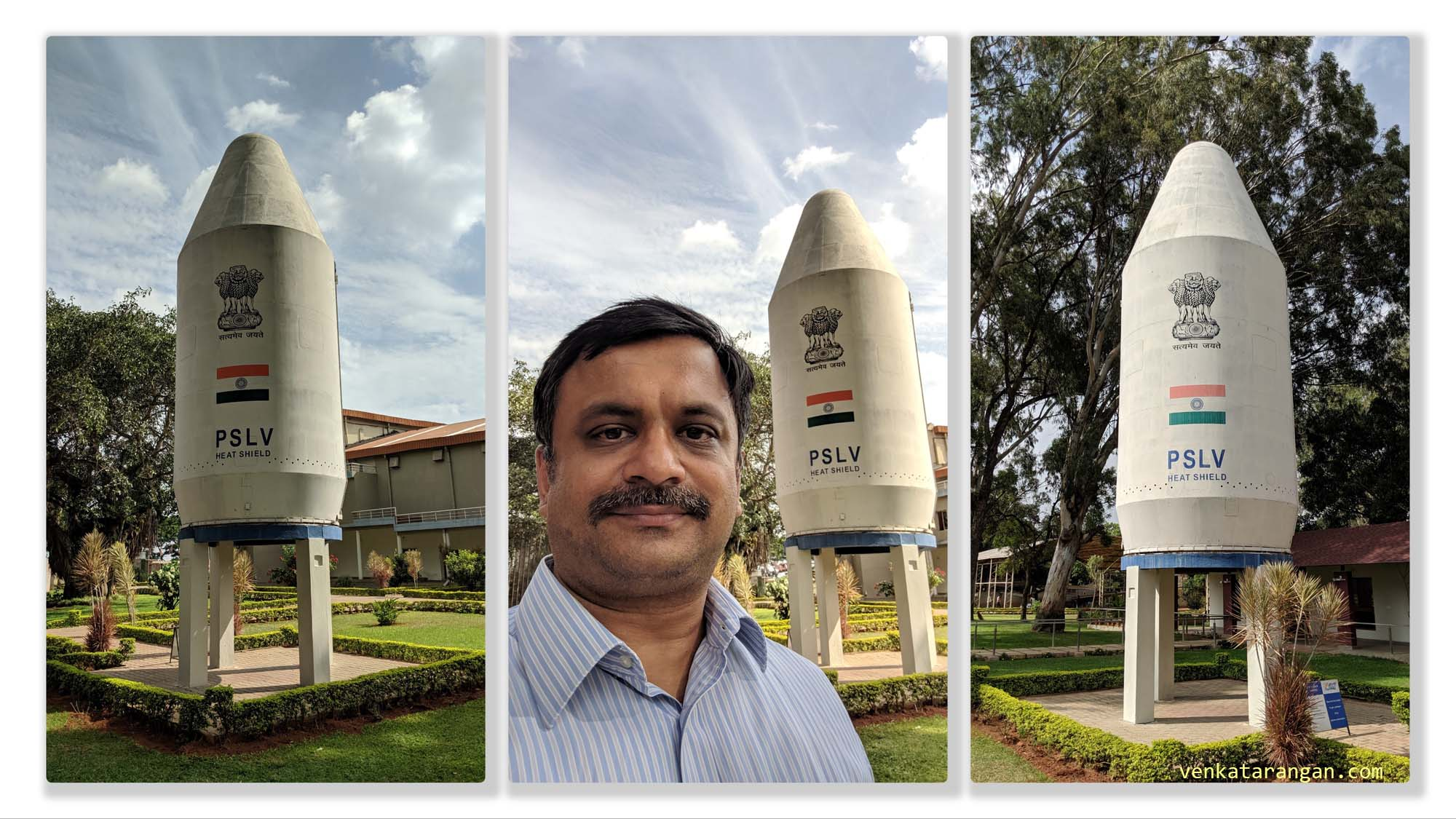 India's PSLV Heat shield on display (it is massive) - Polar Satellite Launch Vehicle