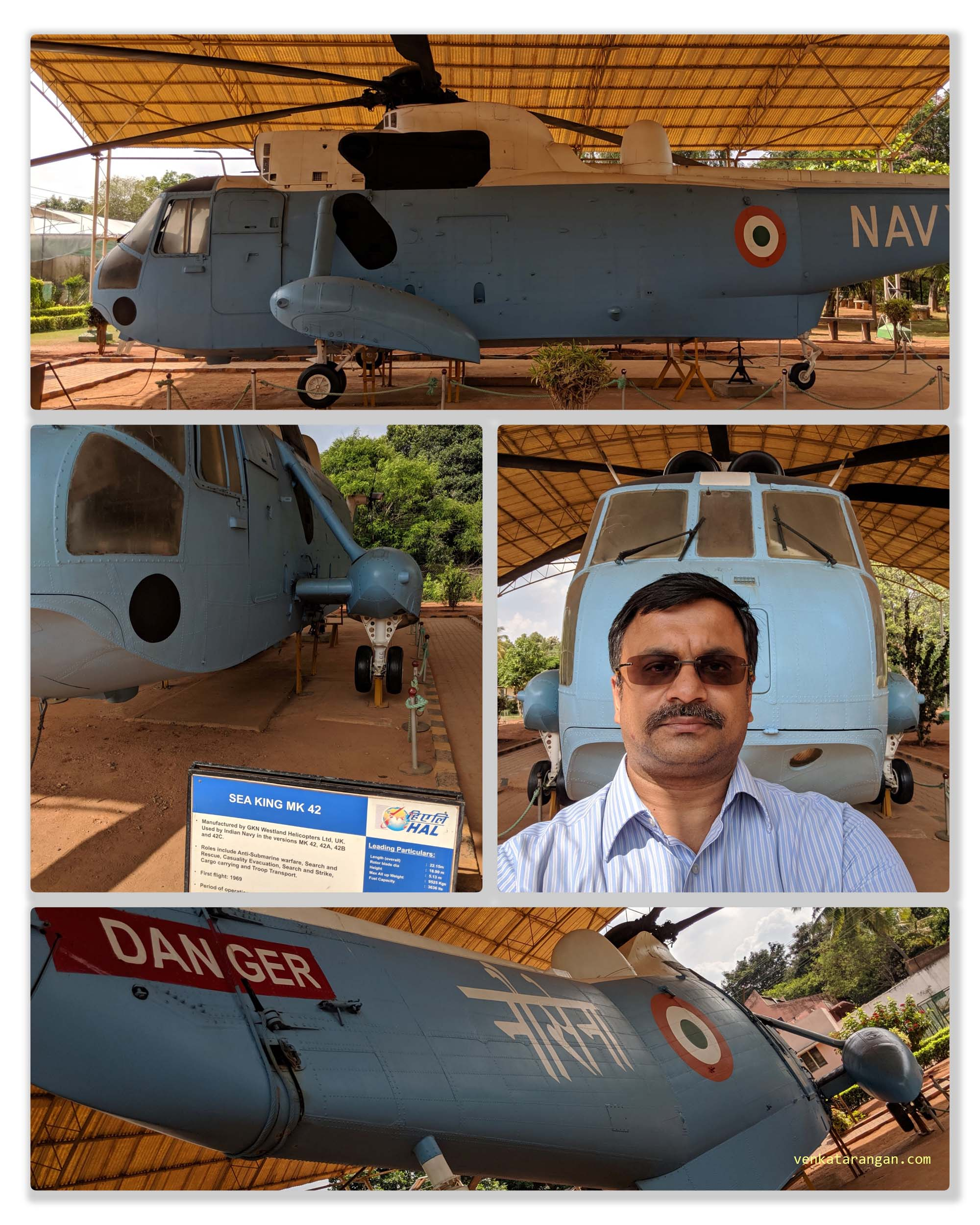 SEA KING MK 42 made by GKN Westland Helicopters, UK and used extensively by Indian Navy — at HAL Aerospace Museum.