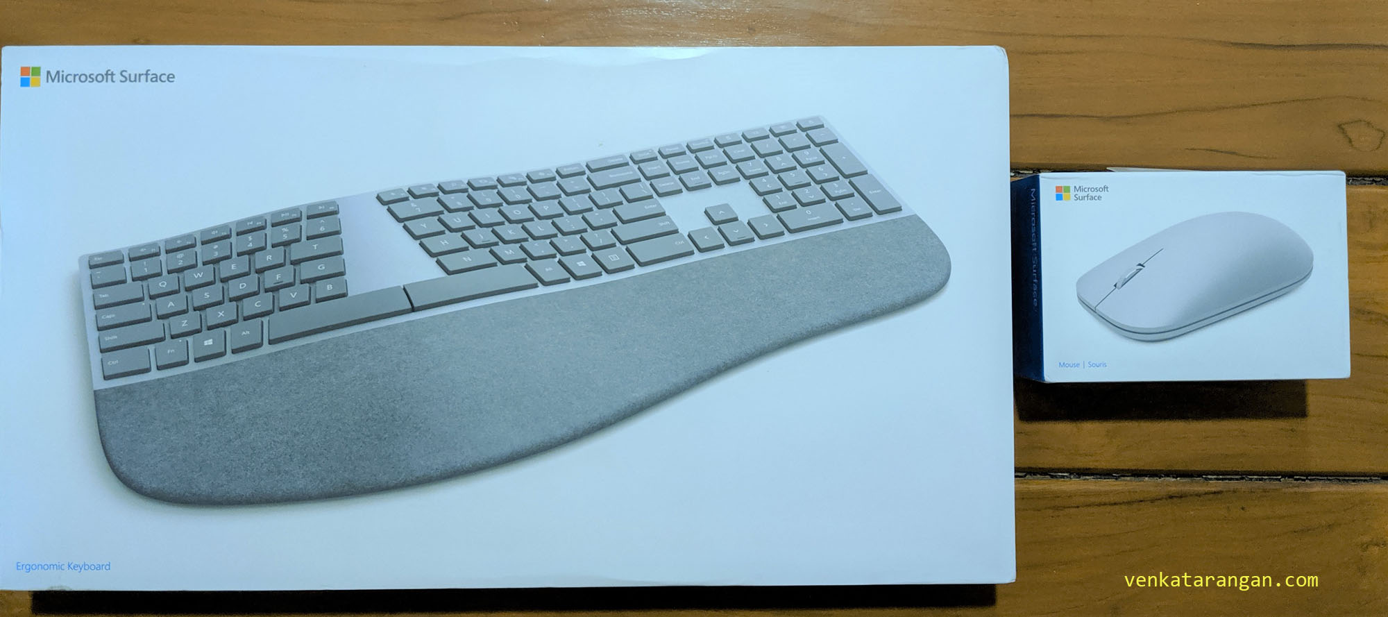 Microsoft Surface Ergonomic Keyboard and Surface Mouse