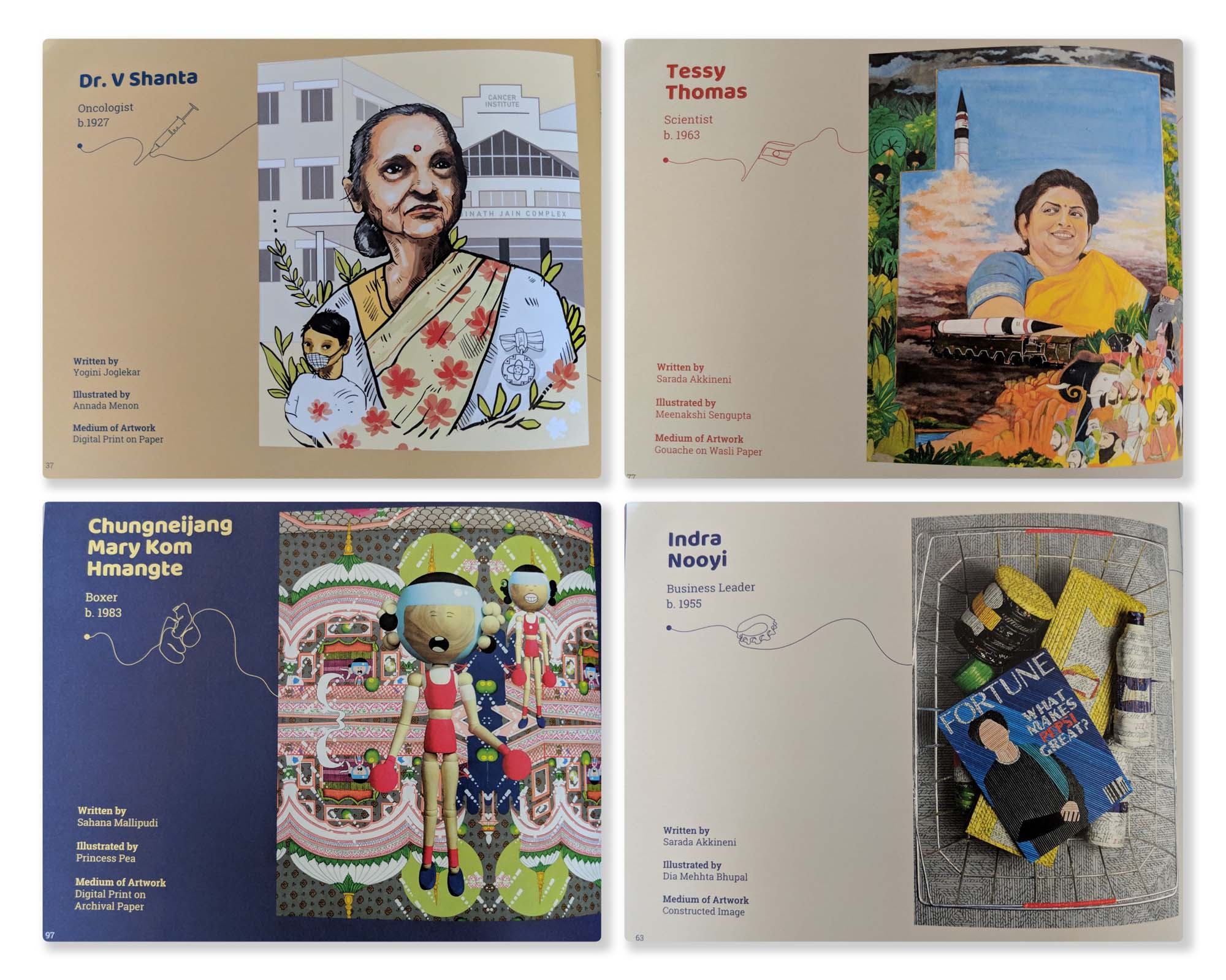 A few of the short stories - Dr V Shanta, Tessy Thomas, Mary Kom & Indra Nooyi