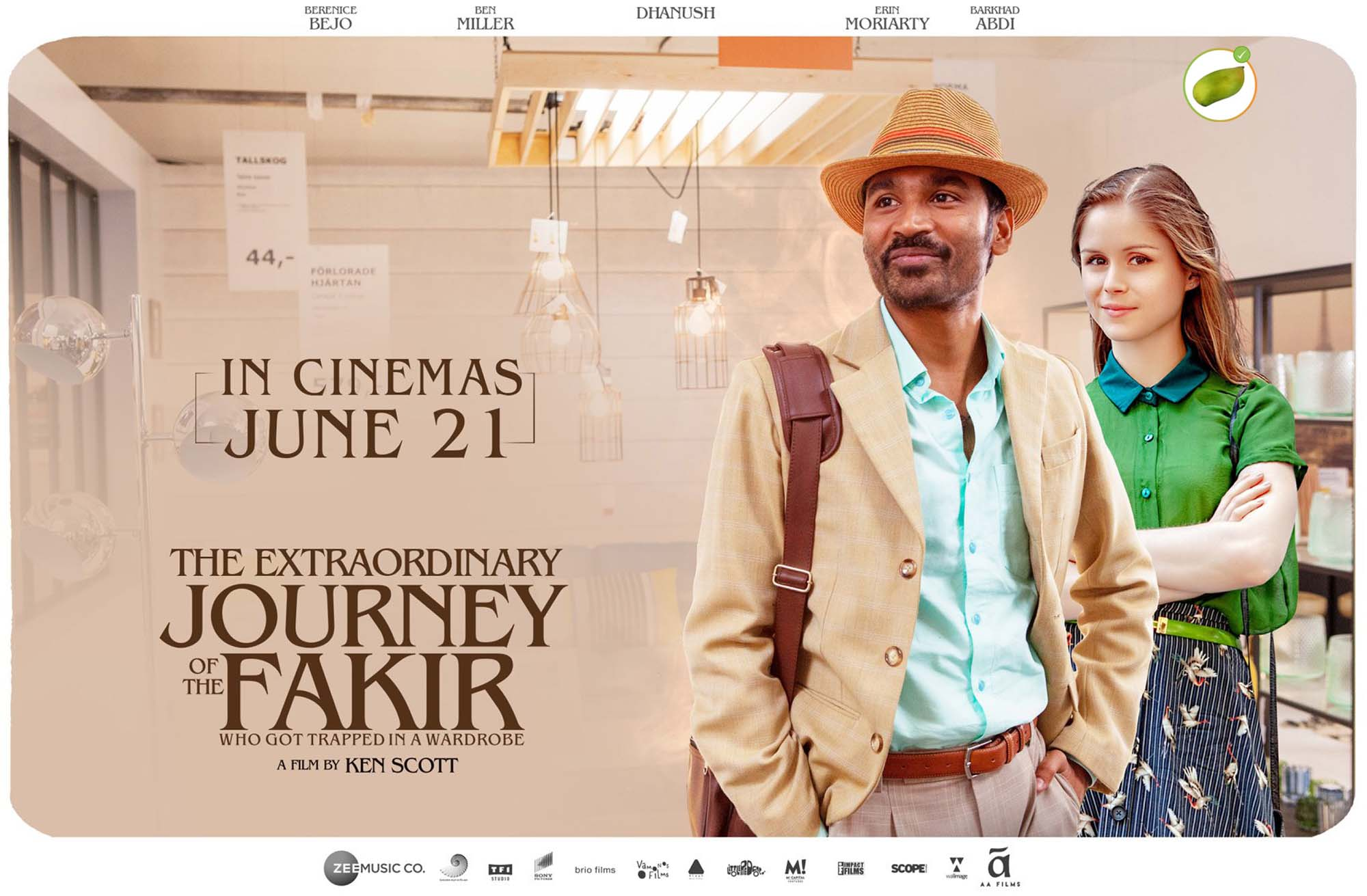 The Extraordinary Journey of the Fakir is a 2019 English comedy-adventure film directed by Ken Scott and starring Dhanush