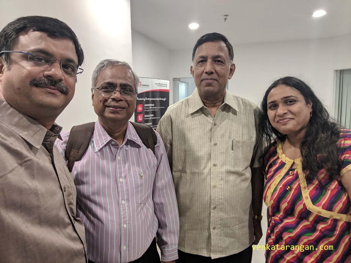 Dr Ashok Jhunjhunwala of IIT Madras, MS Jagan and Ms Aparna Sridhar.