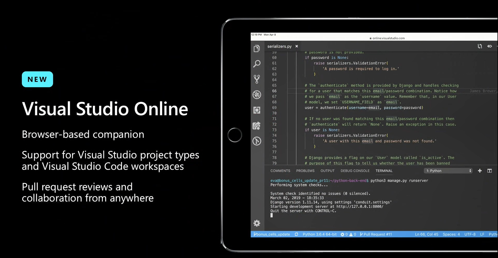 Visual Studio Online - Browser-based companion