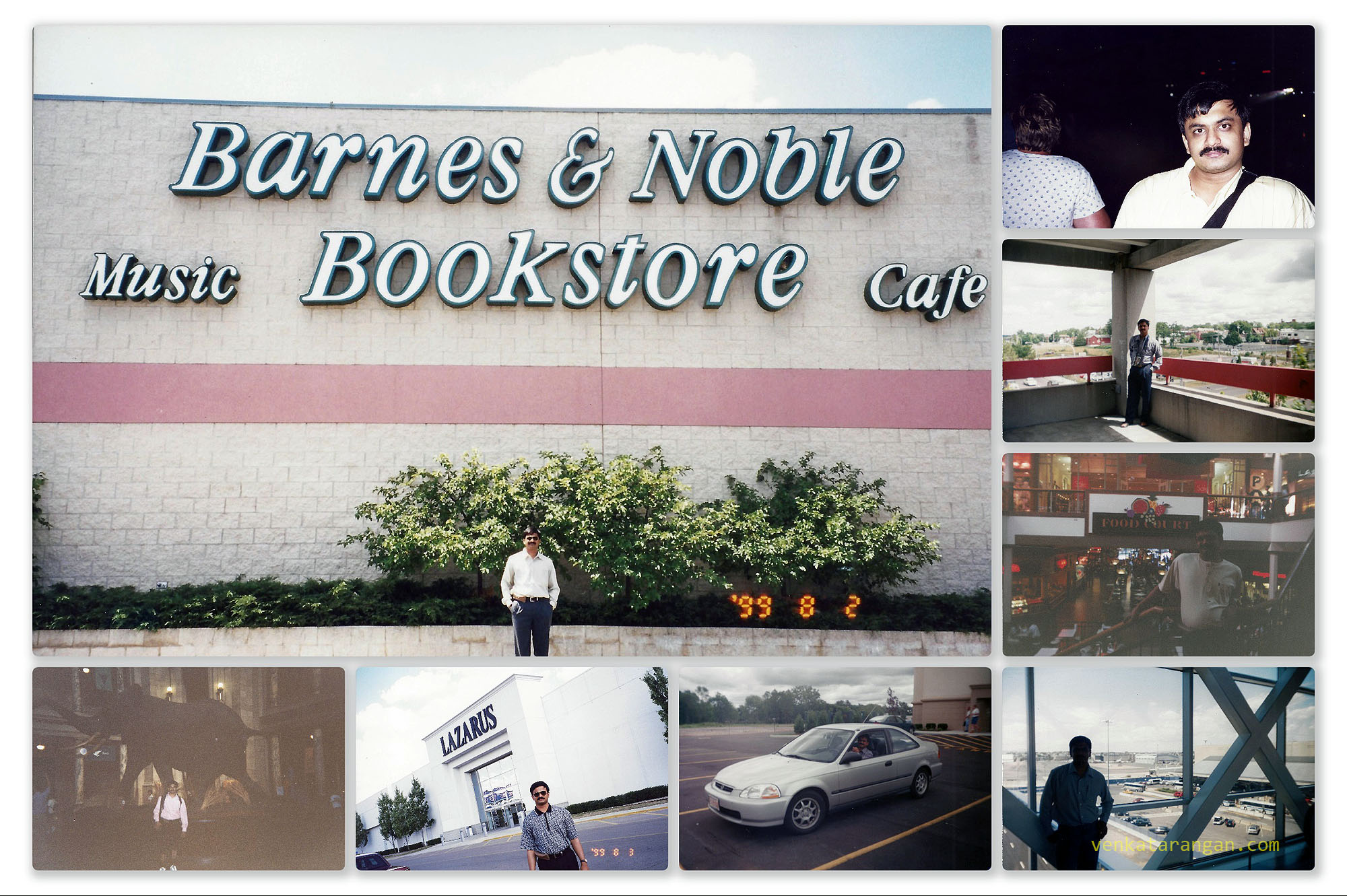 A mall and Barnes & Noble Store in 1999