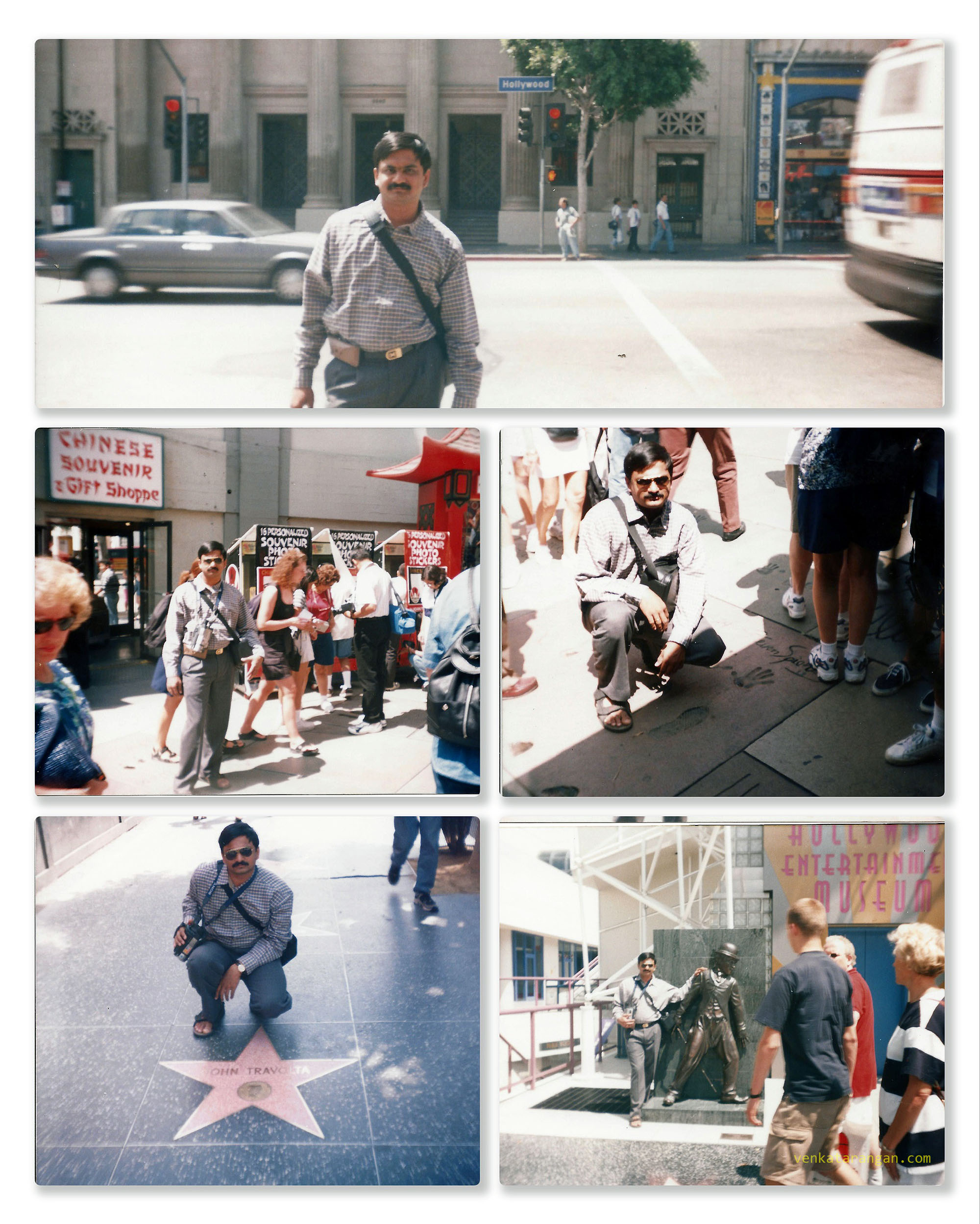 Hollywood road and Hollywood walk of Fame in 1999
