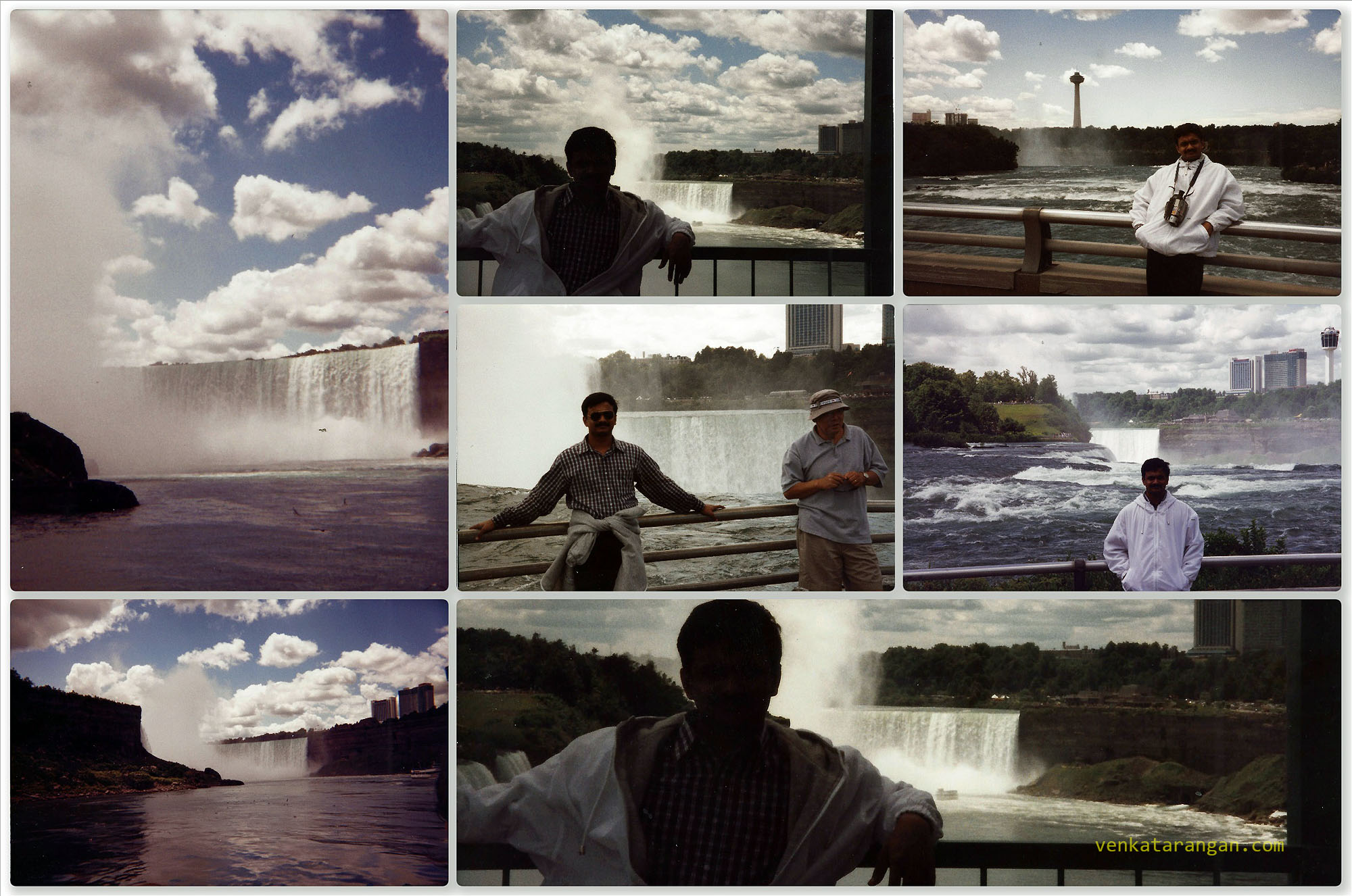 In 1999, Venkatarangan posing in Niagara Falls, New York