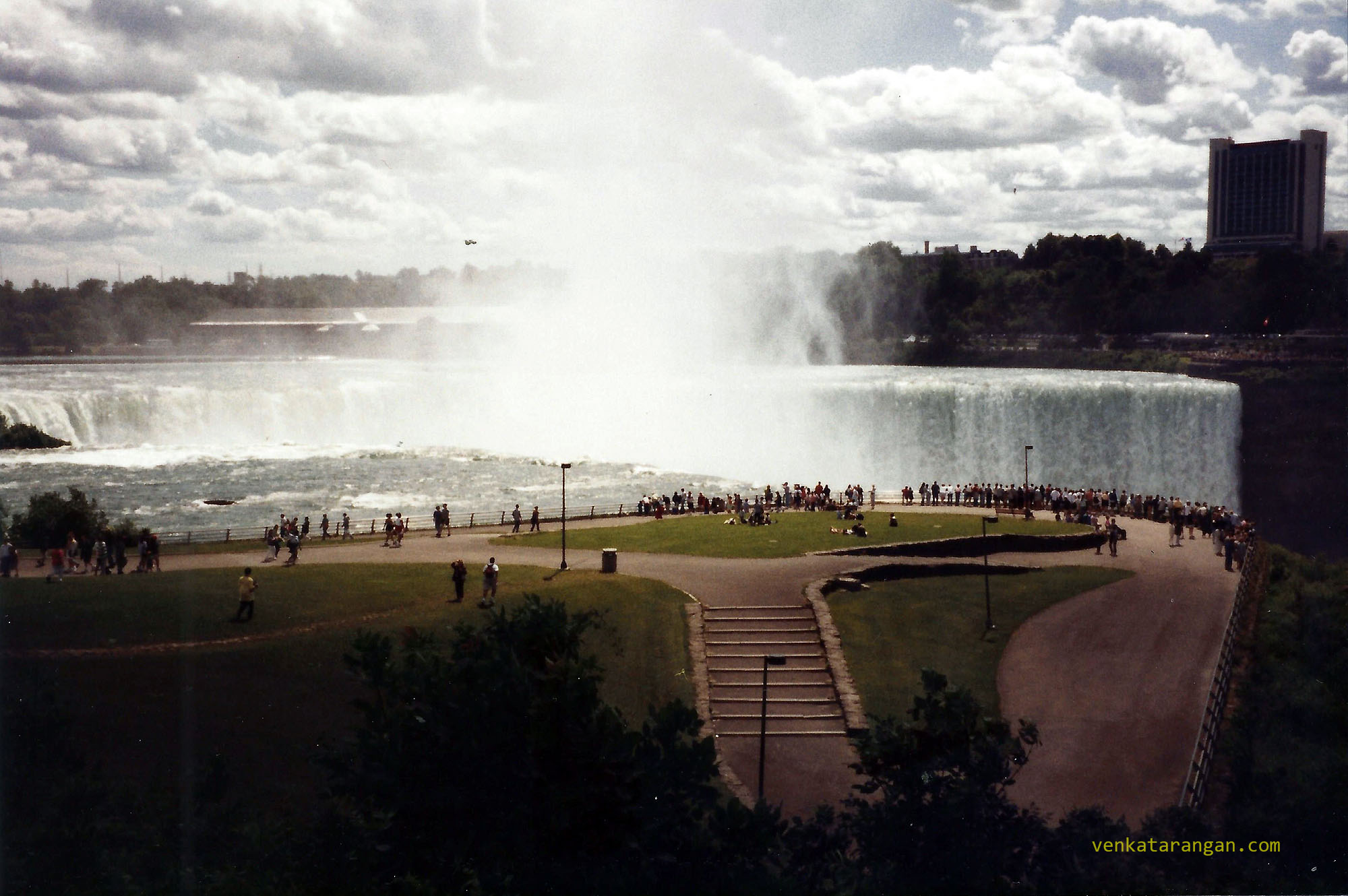 View from Niagara Falls, New York, USA in 1999