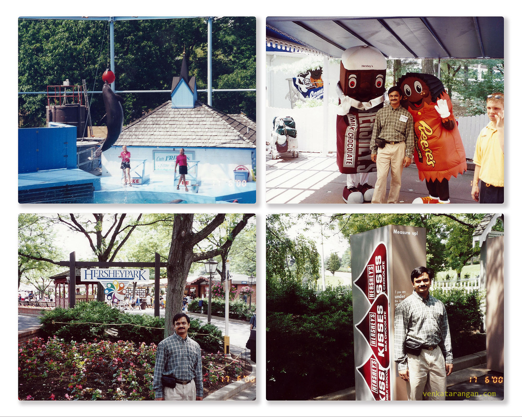 Dolphin show and other entertainment in Hersheypark, Hershey, Pennsylvania in 1999